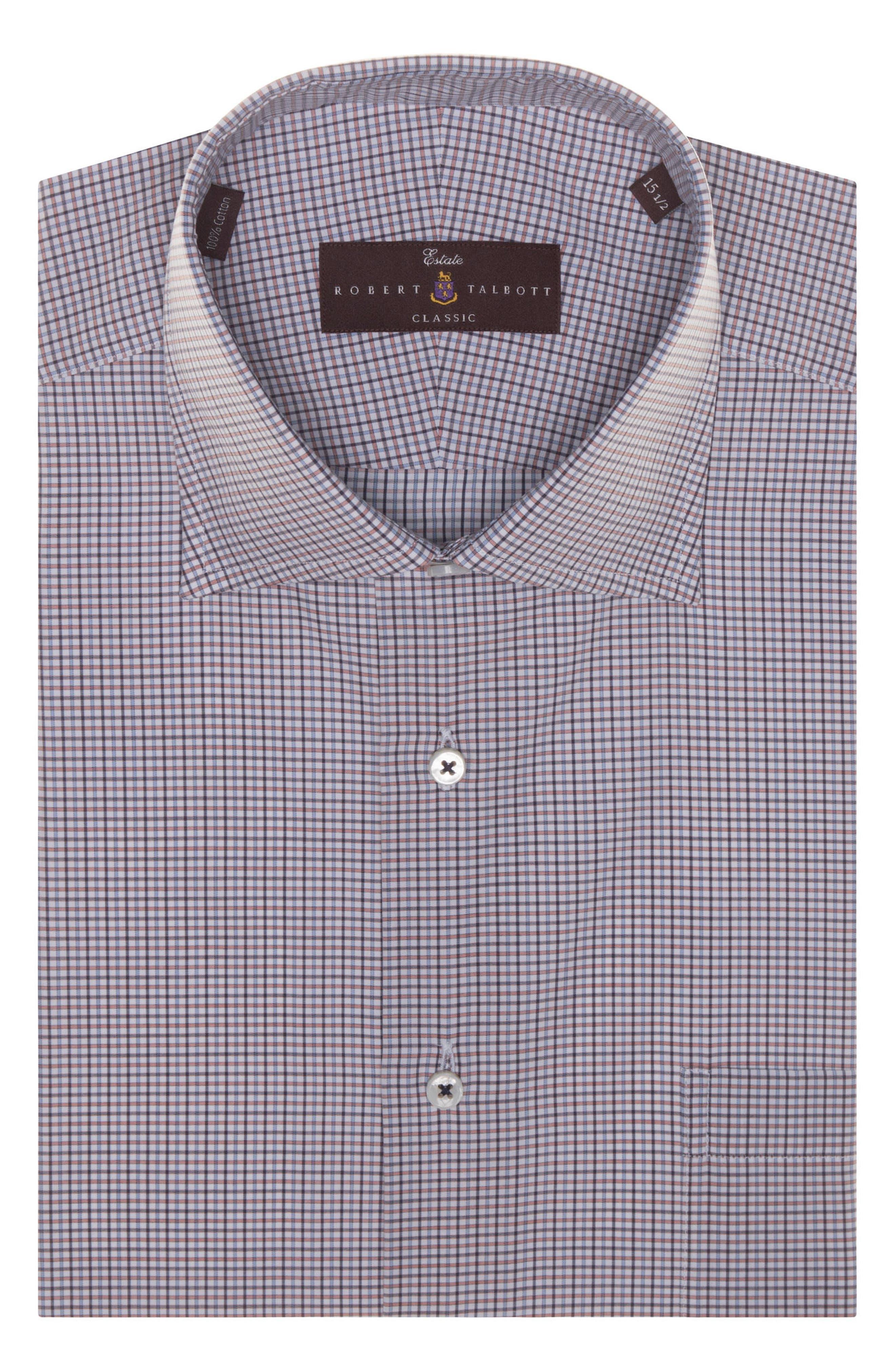 Tailored Fit Check Dress Shirt,                             Alternate thumbnail 2, color,                             ZINNIA
