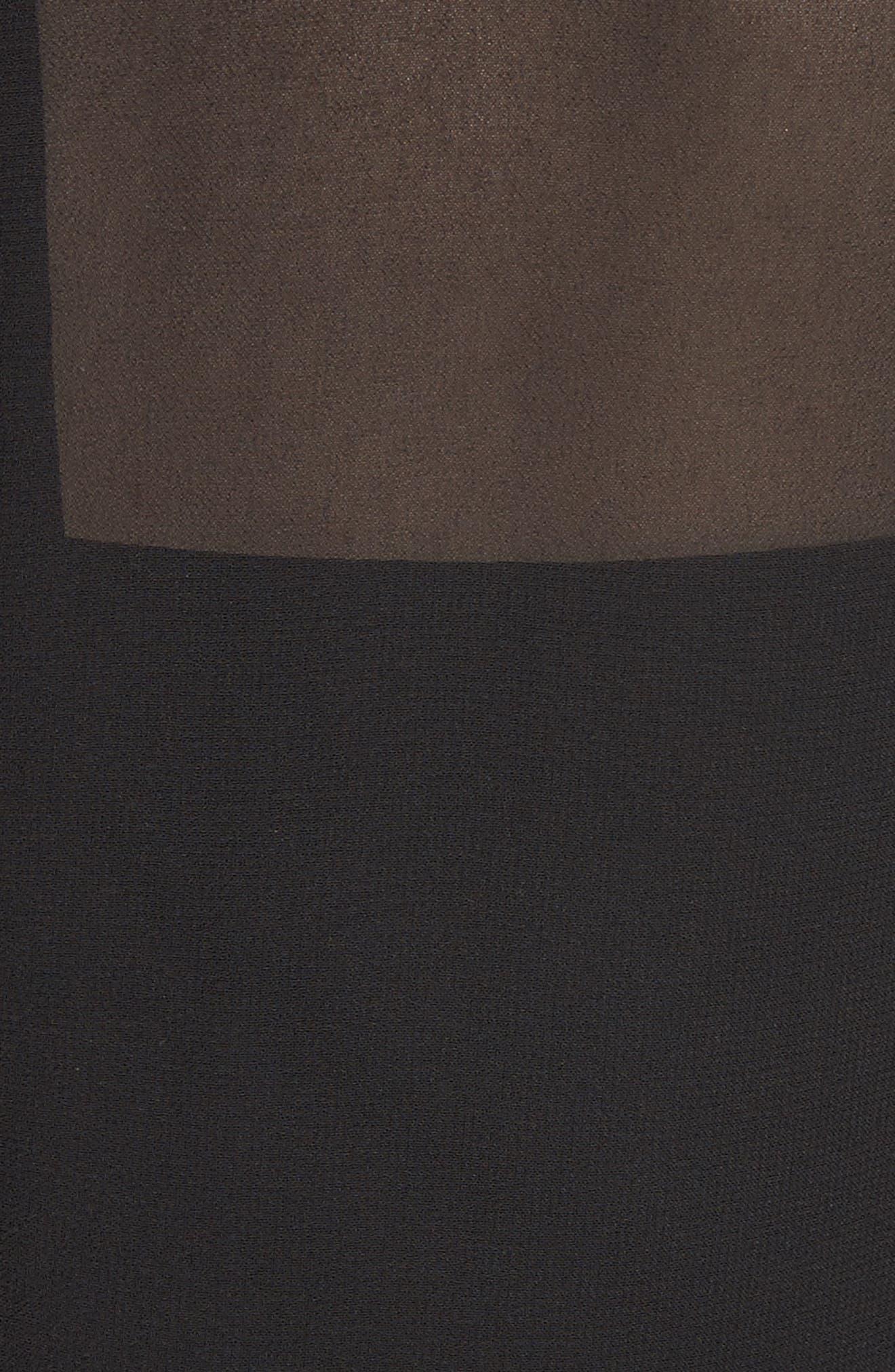 Lace Trim Pleated Midi Dress,                             Alternate thumbnail 5, color,                             001