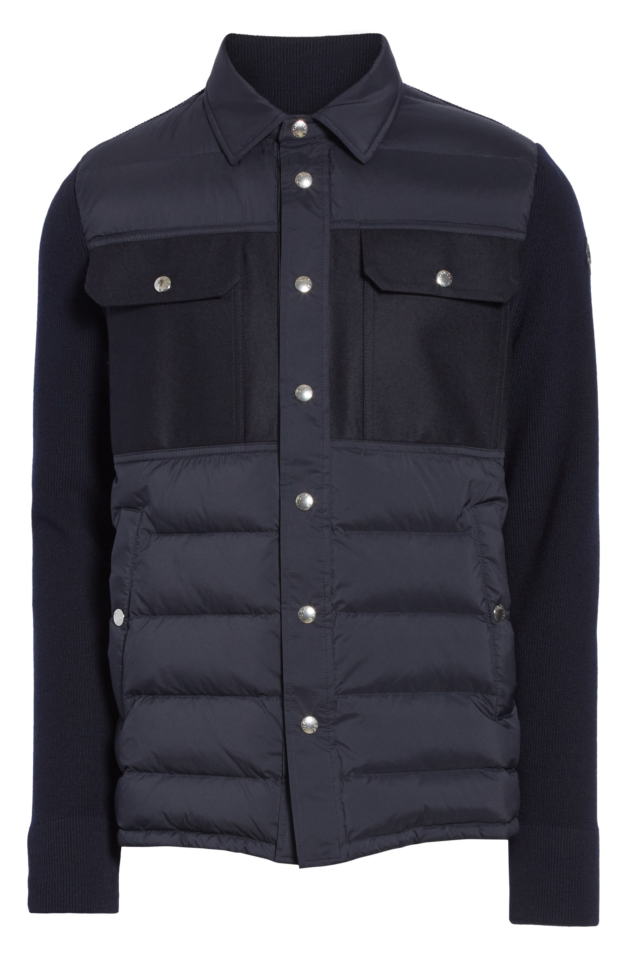 Maglione Two-Tone Down Jacket,                             Alternate thumbnail 4, color,                             NAVY