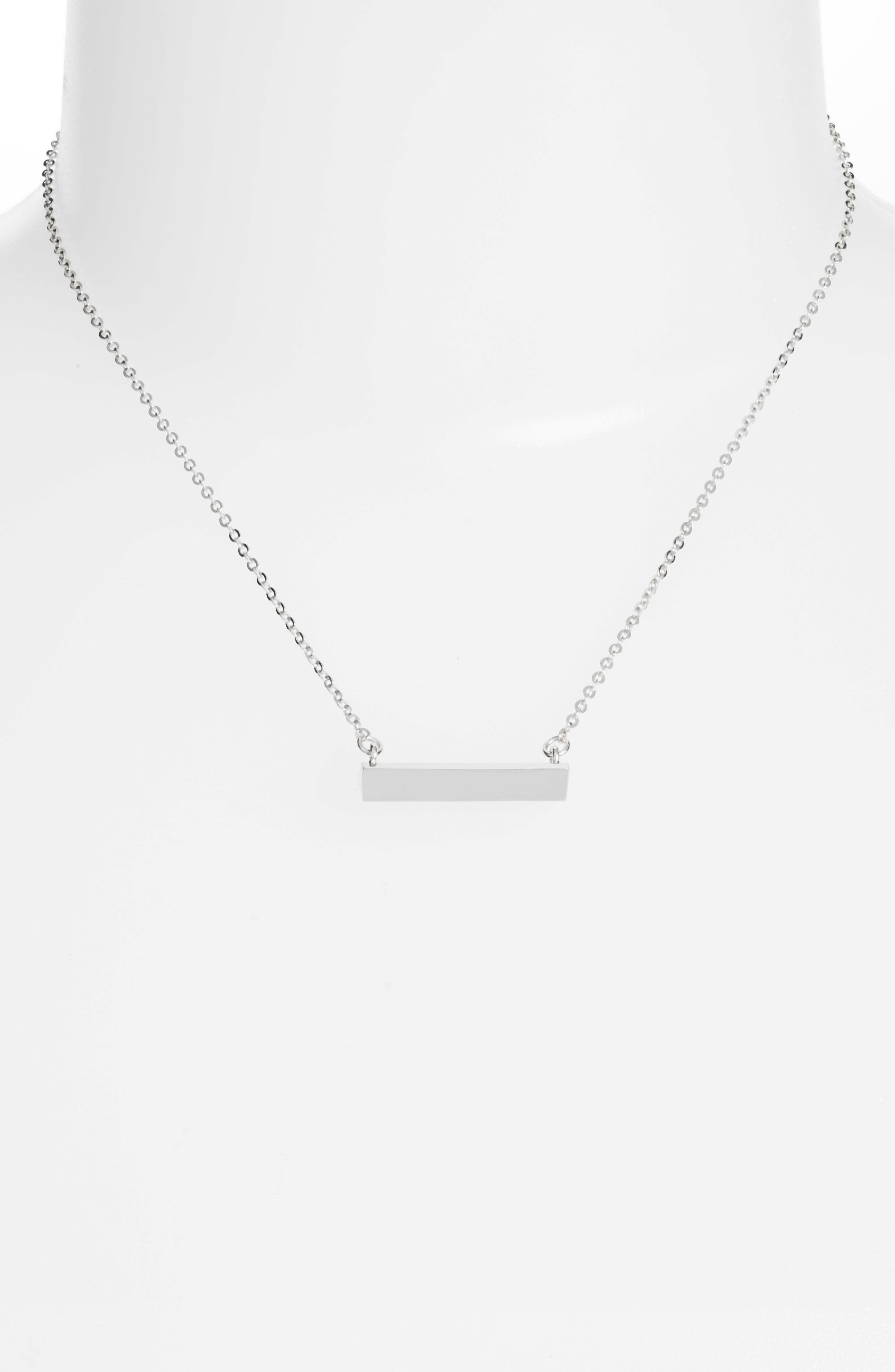 STELLA VALLE,                             Diamond Shaped Bar Pendant Necklace,                             Alternate thumbnail 2, color,                             040