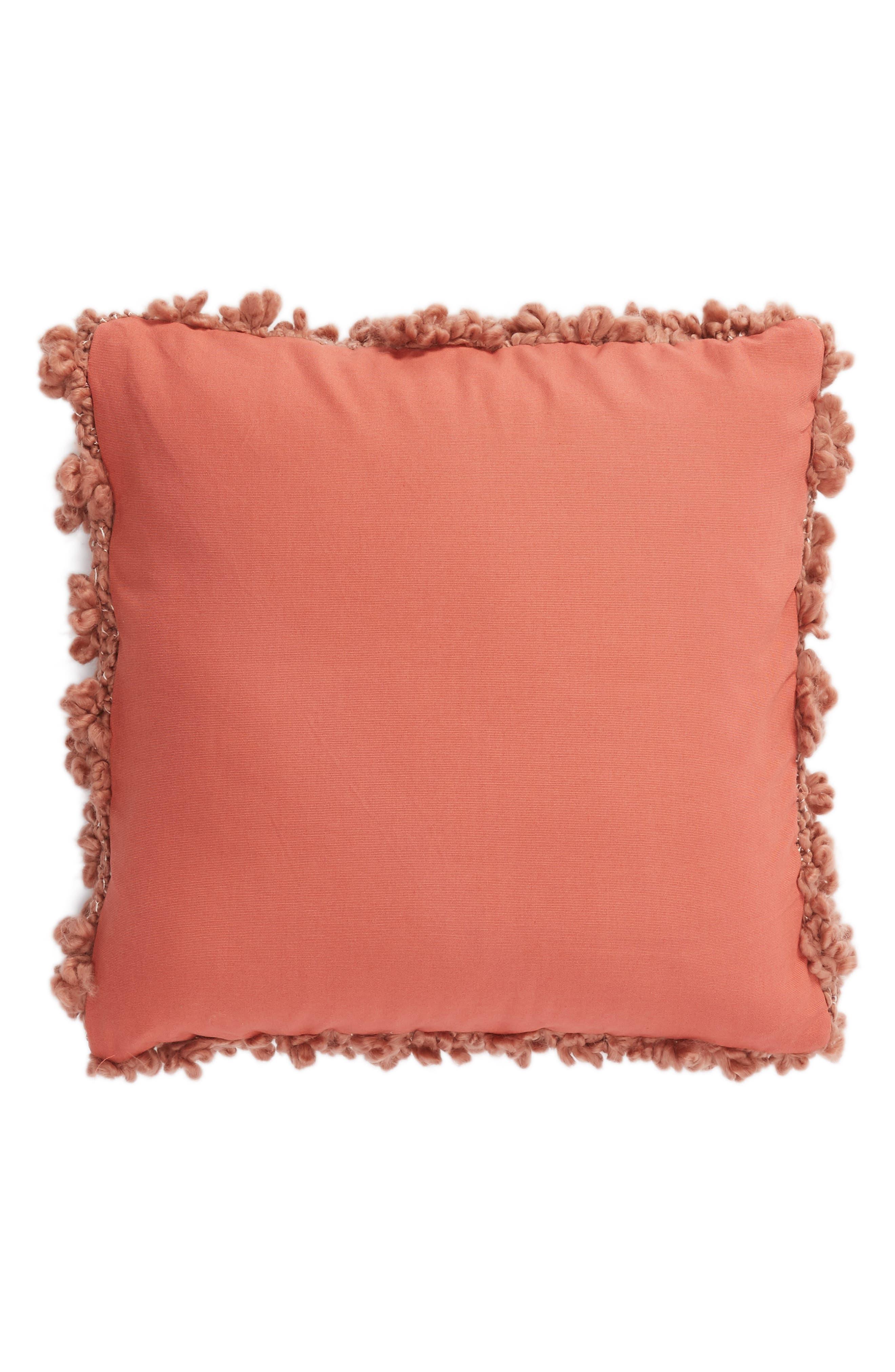Knit Pillow,                             Alternate thumbnail 2, color,                             PINK DAWN