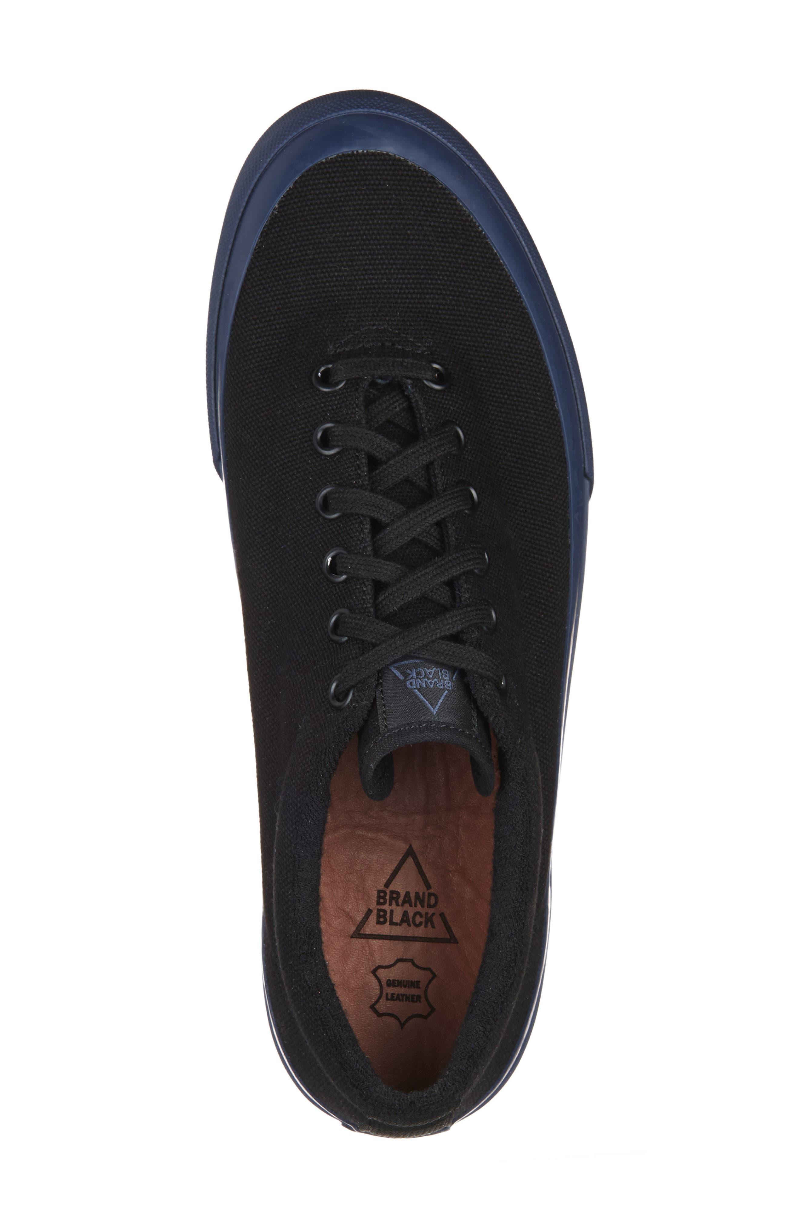 Vesta Low Top Sneaker,                             Alternate thumbnail 5, color,                             BLACK/ NAVY