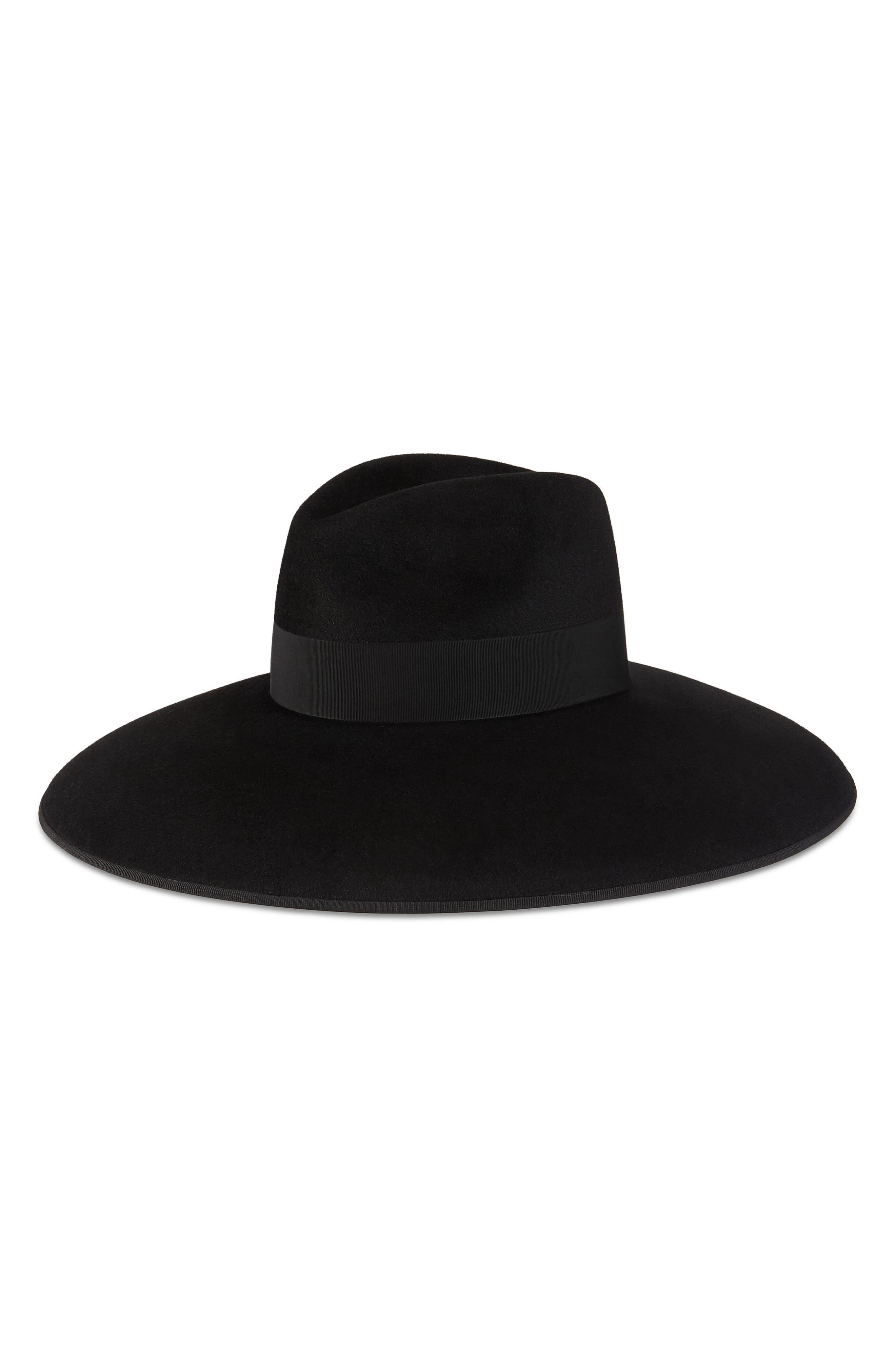 Fur Felt Wide Brim Hat,                             Alternate thumbnail 2, color,                             003