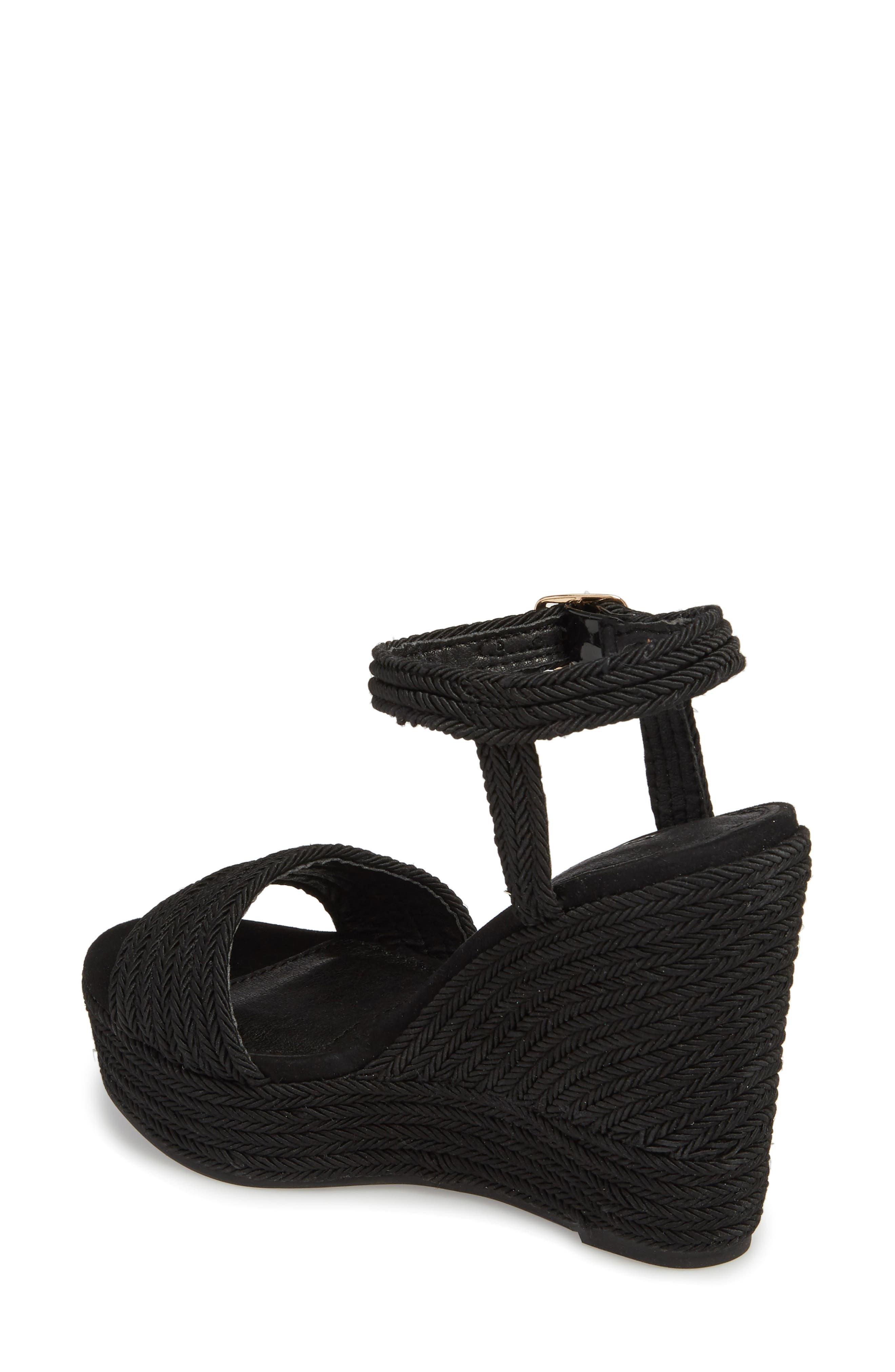 Wild Rope Platform Wedge Sandal,                             Alternate thumbnail 2, color,                             BLACK MULTI