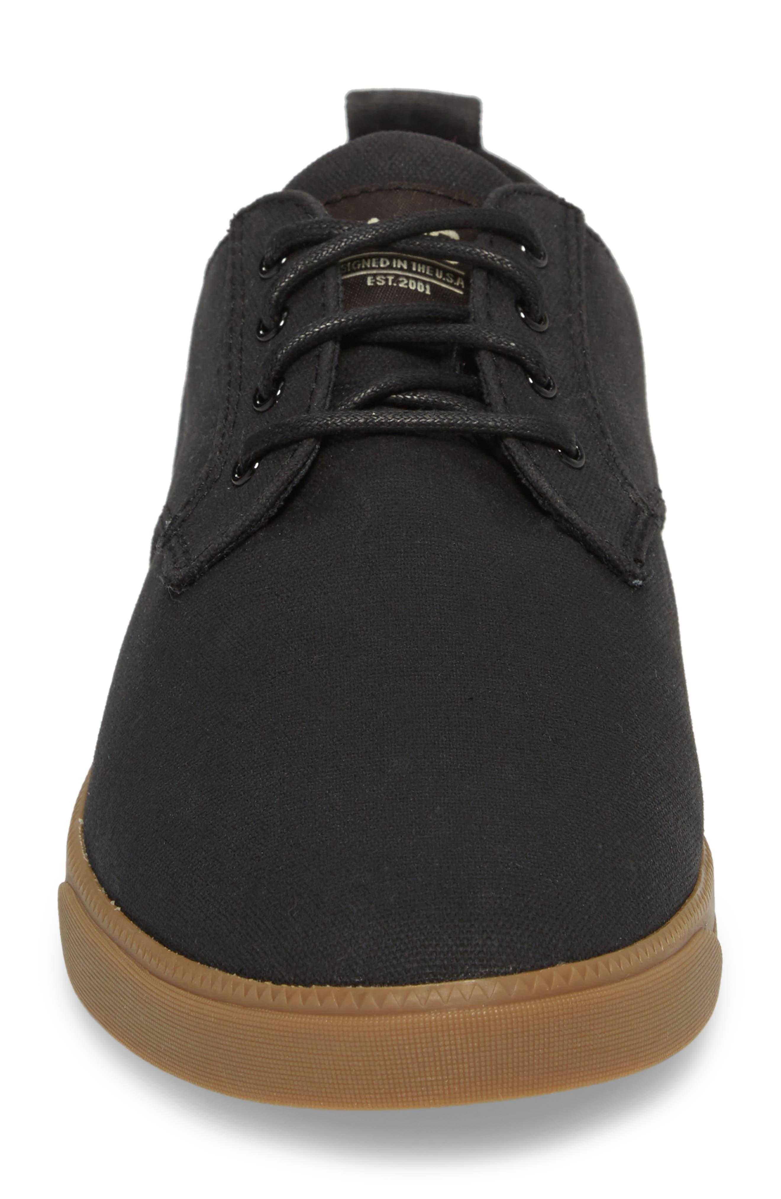 CLAE,                             Ellington Sneaker,                             Alternate thumbnail 4, color,                             BLACK WAXED CANVAS
