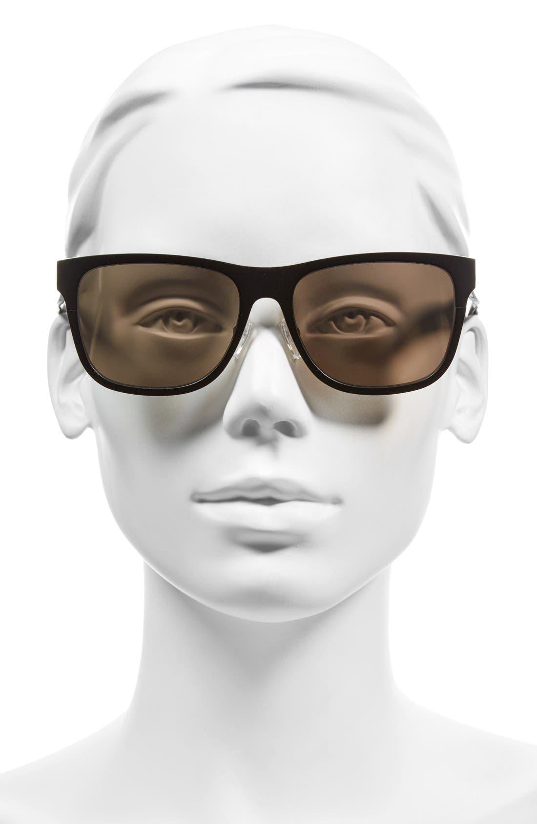 'The Zach' 56mm Retro Sunglasses,                             Alternate thumbnail 4, color,
