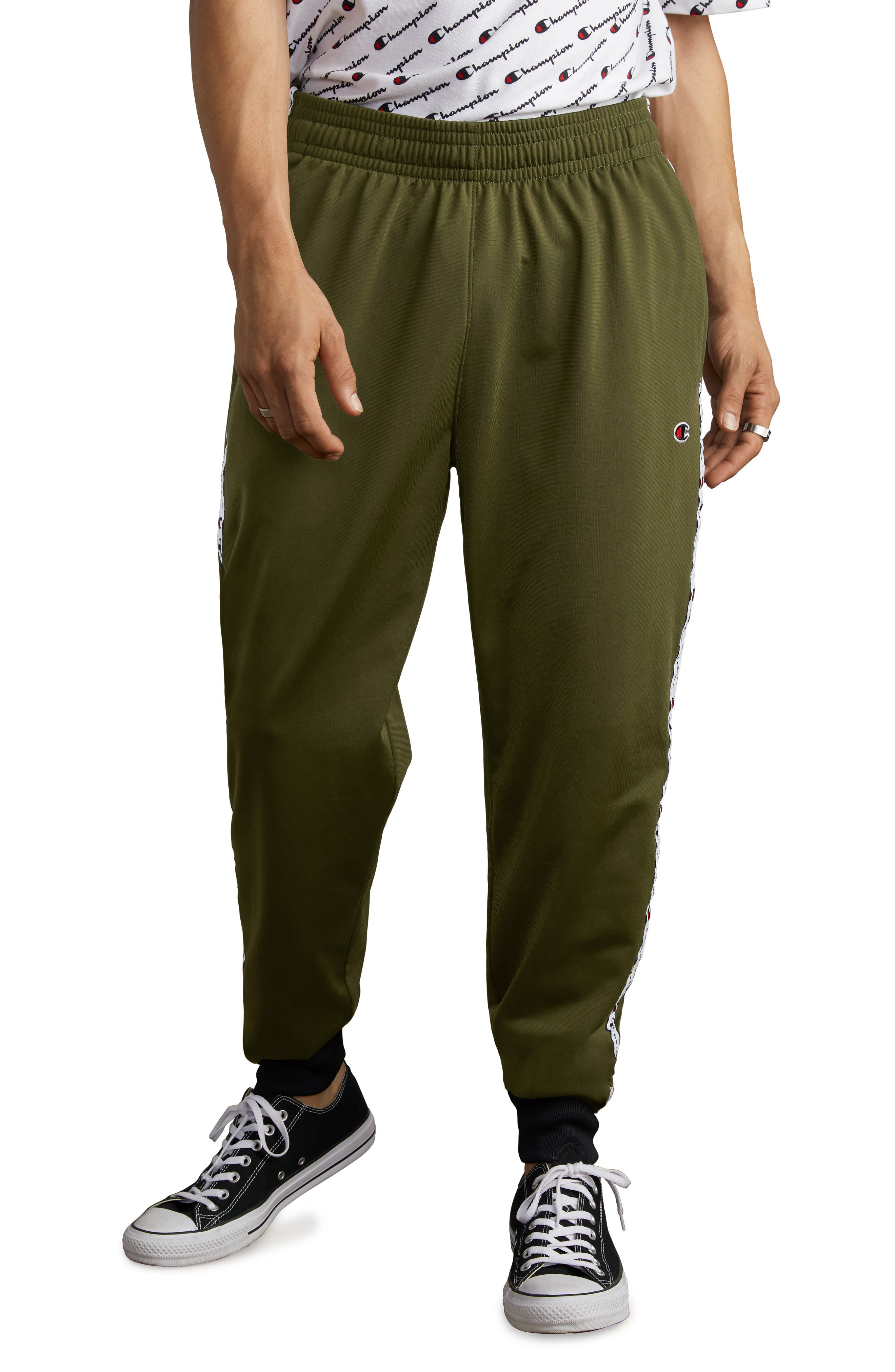 Track Pants,                         Main,                         color, HIKER GREEN