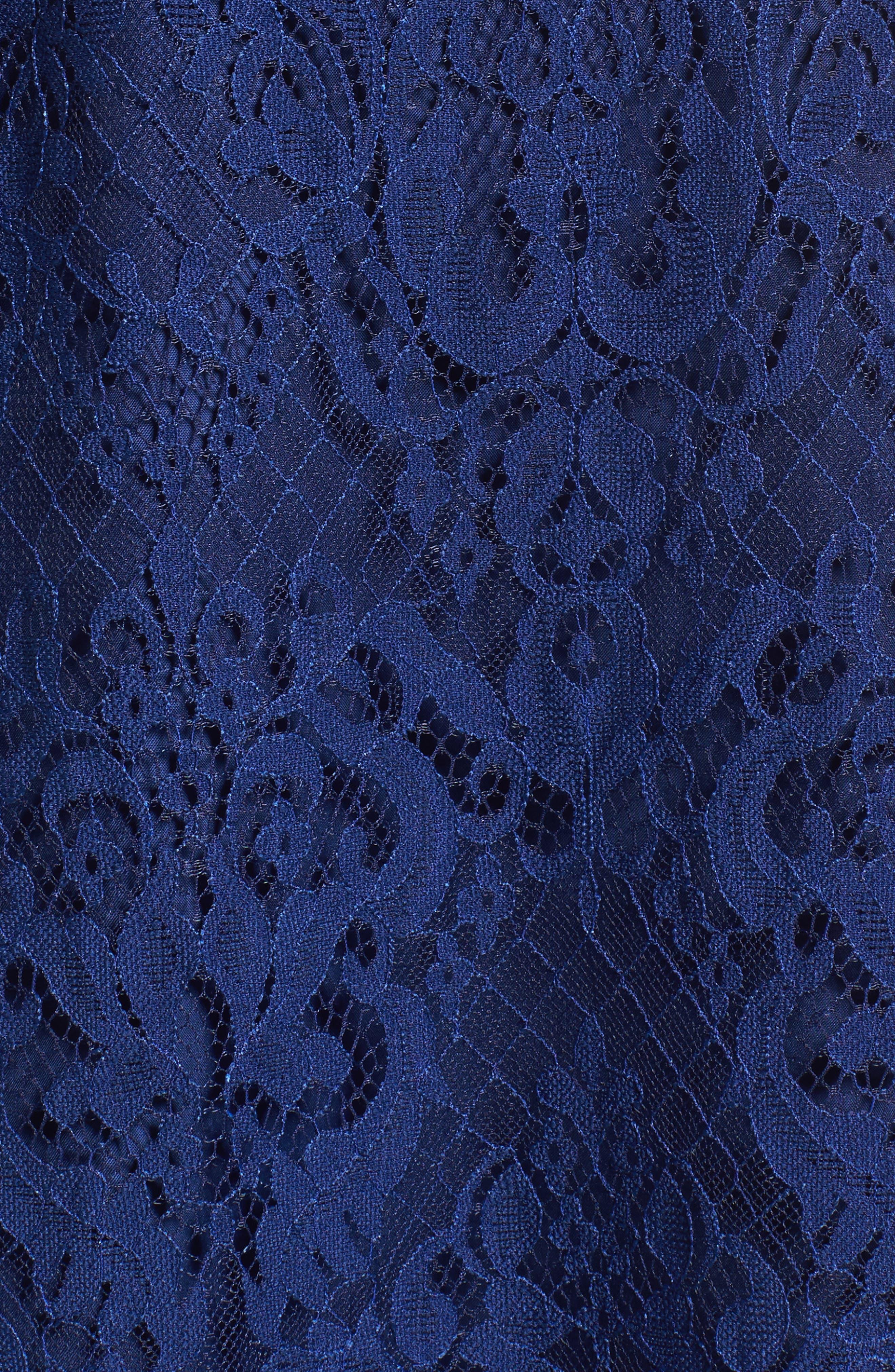 Cherie Lace Sheath Dress,                             Alternate thumbnail 5, color,                             401