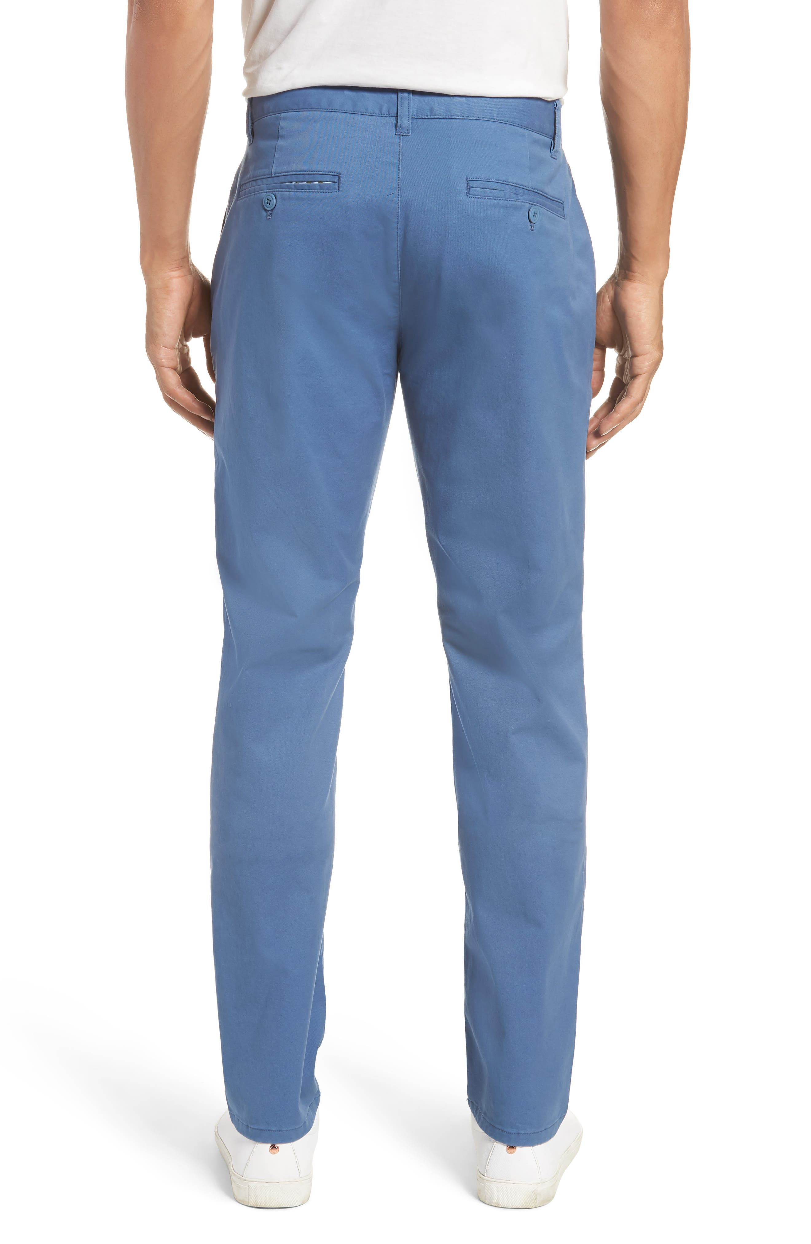 Tailored Fit Washed Stretch Cotton Chinos,                             Alternate thumbnail 51, color,