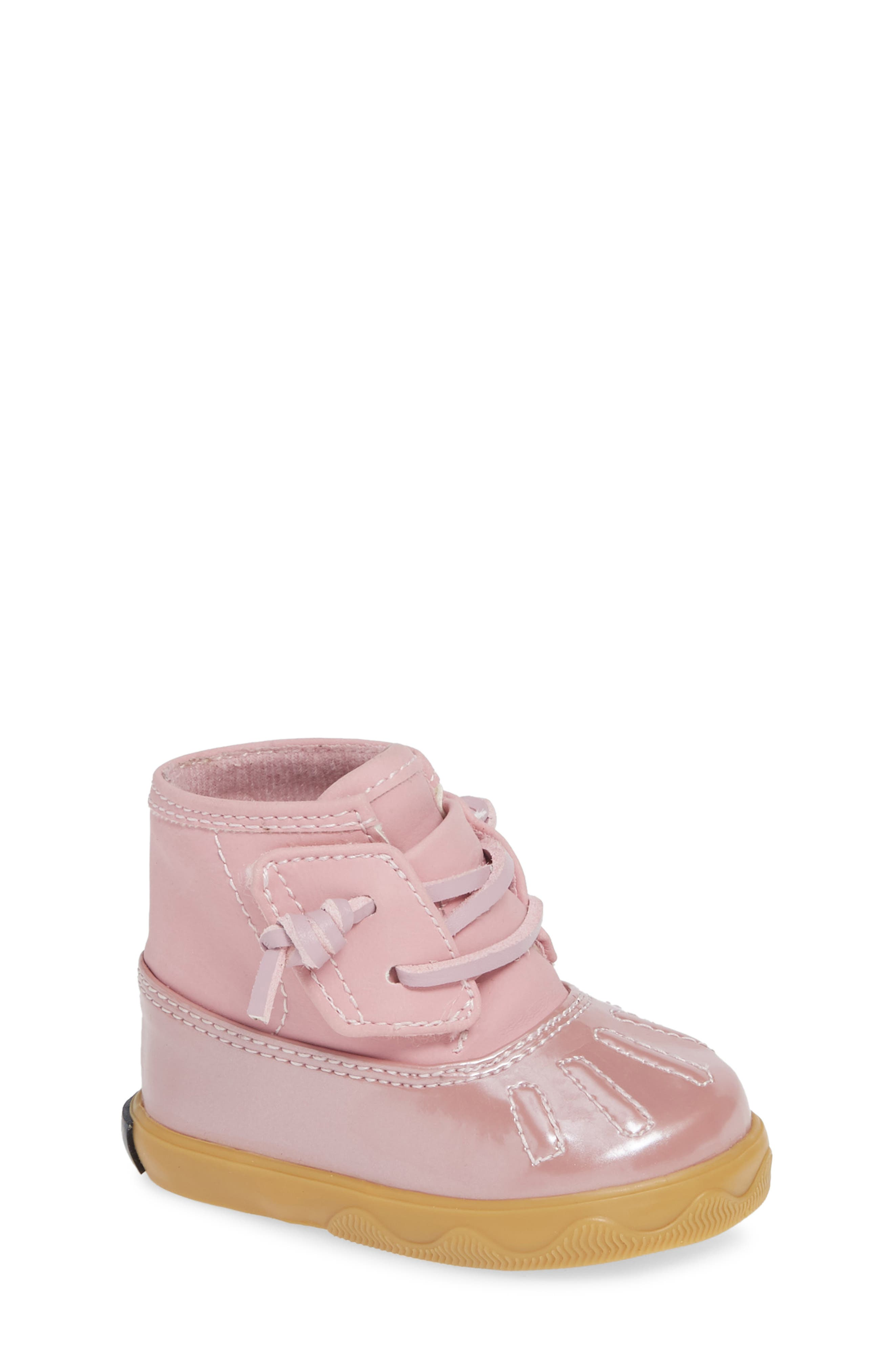 Sperry Icestorm Crib Duck Bootie,                             Main thumbnail 1, color,                             650