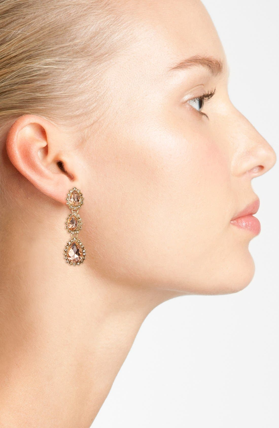Sunrise Crystal Linear Drop Earrings,                             Alternate thumbnail 2, color,                             650