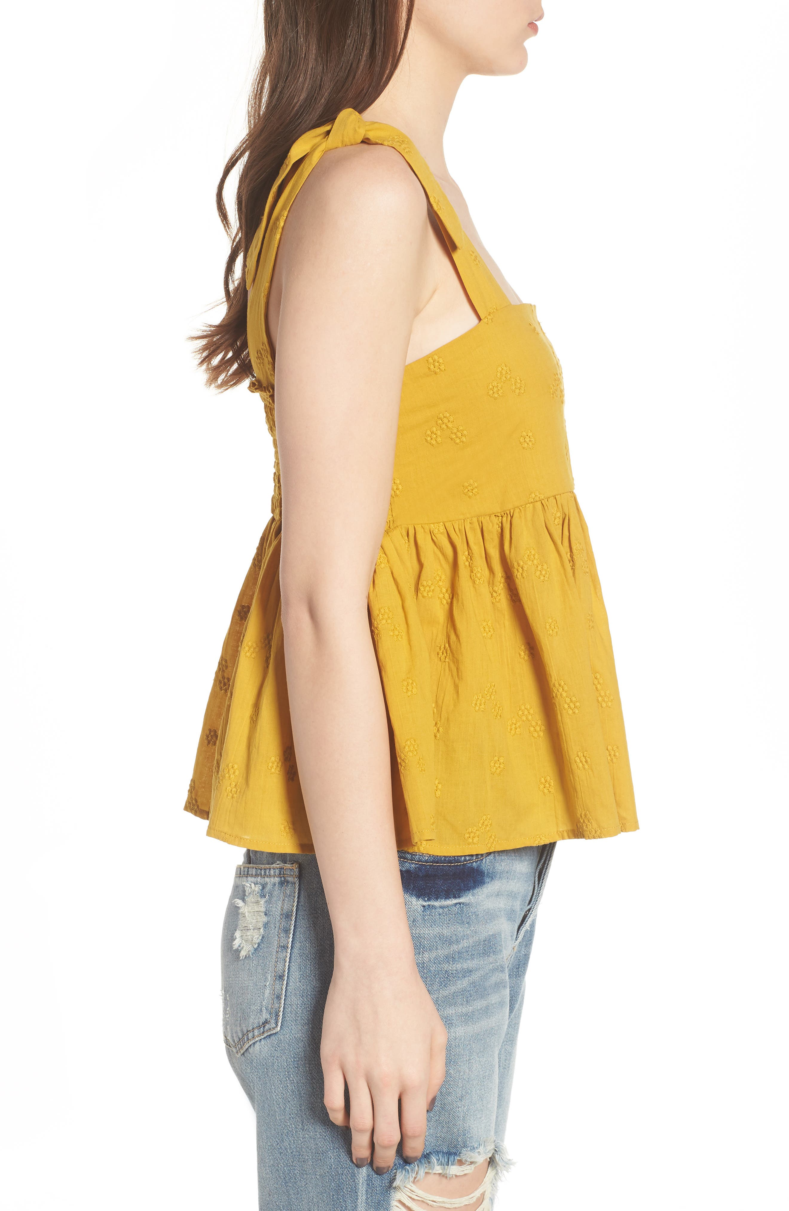 Embroidered Peplum Tank,                             Alternate thumbnail 9, color,