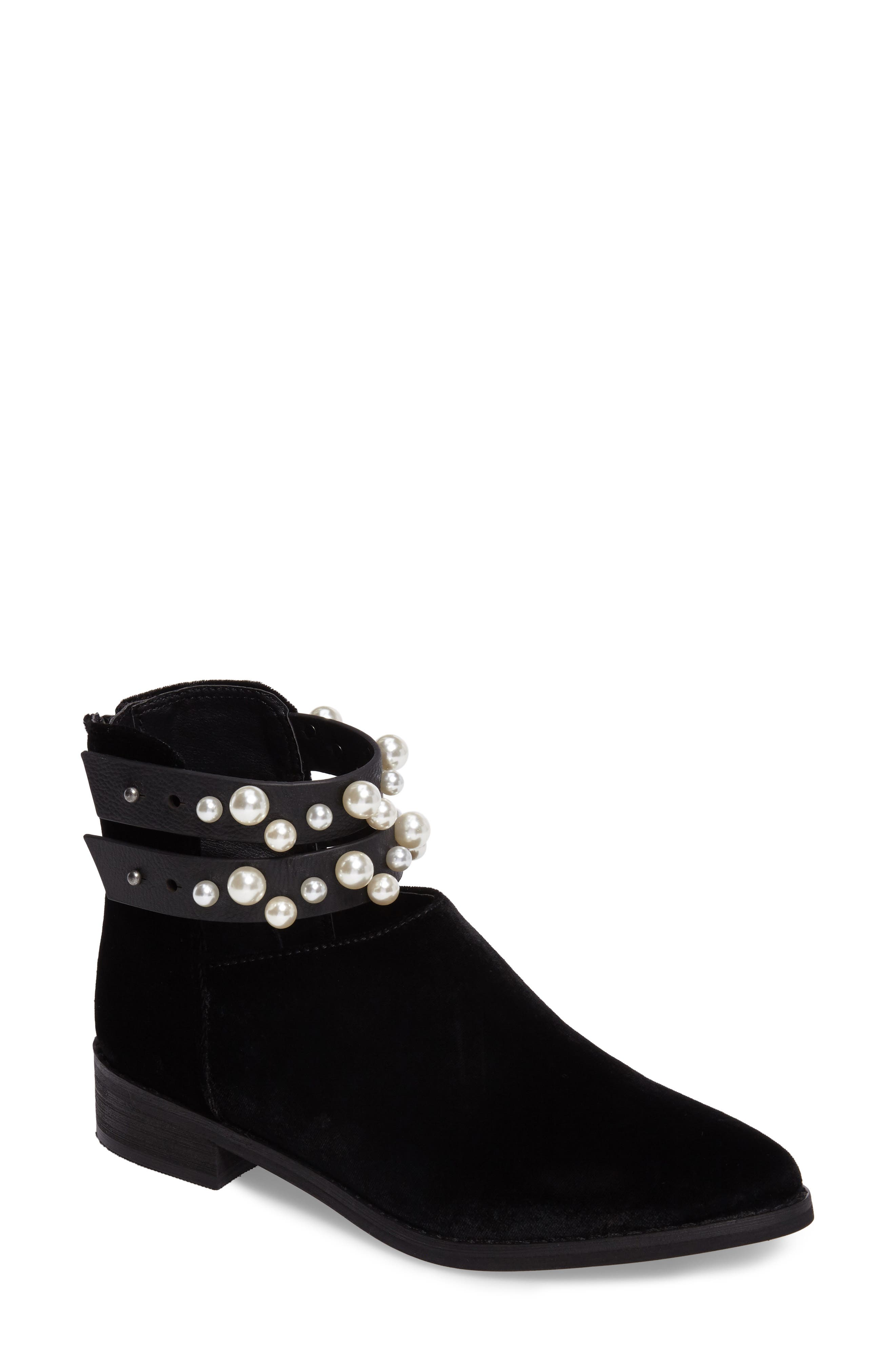 Maisie Embellished Bootie,                             Main thumbnail 1, color,                             001