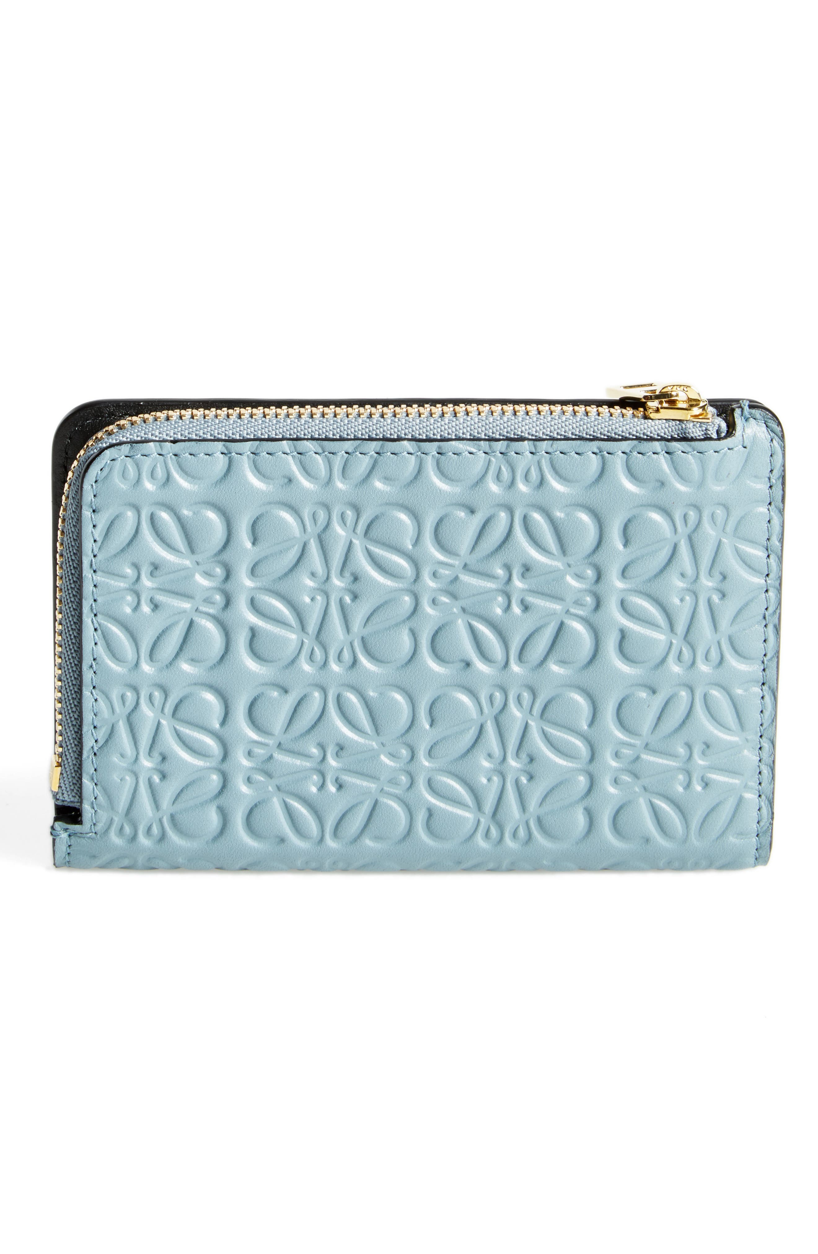 Small Leather Zip Wallet,                             Alternate thumbnail 4, color,                             421