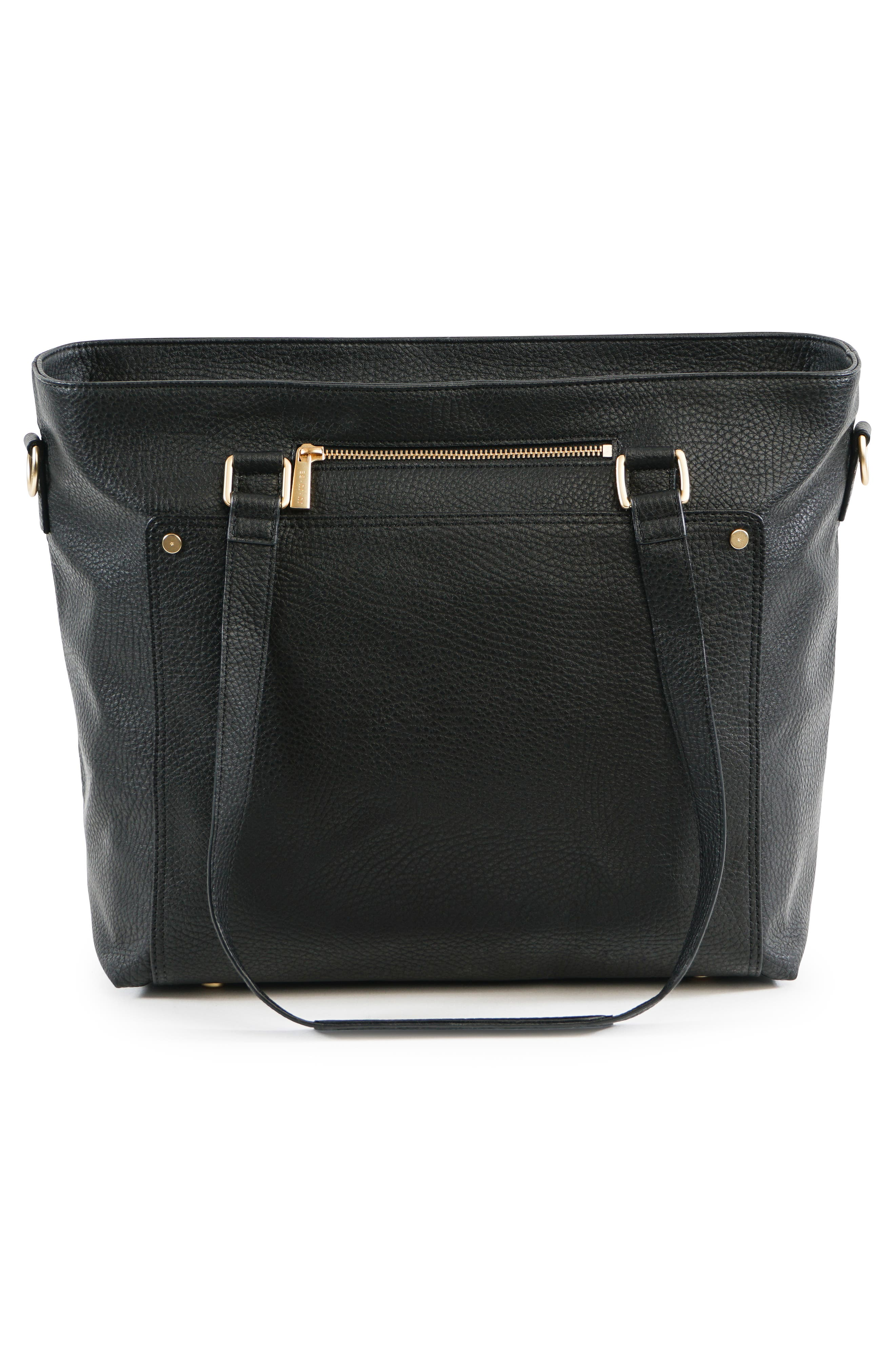 Ever Collection Everyday Faux Leather Diaper Tote,                             Alternate thumbnail 2, color,                             NOIR