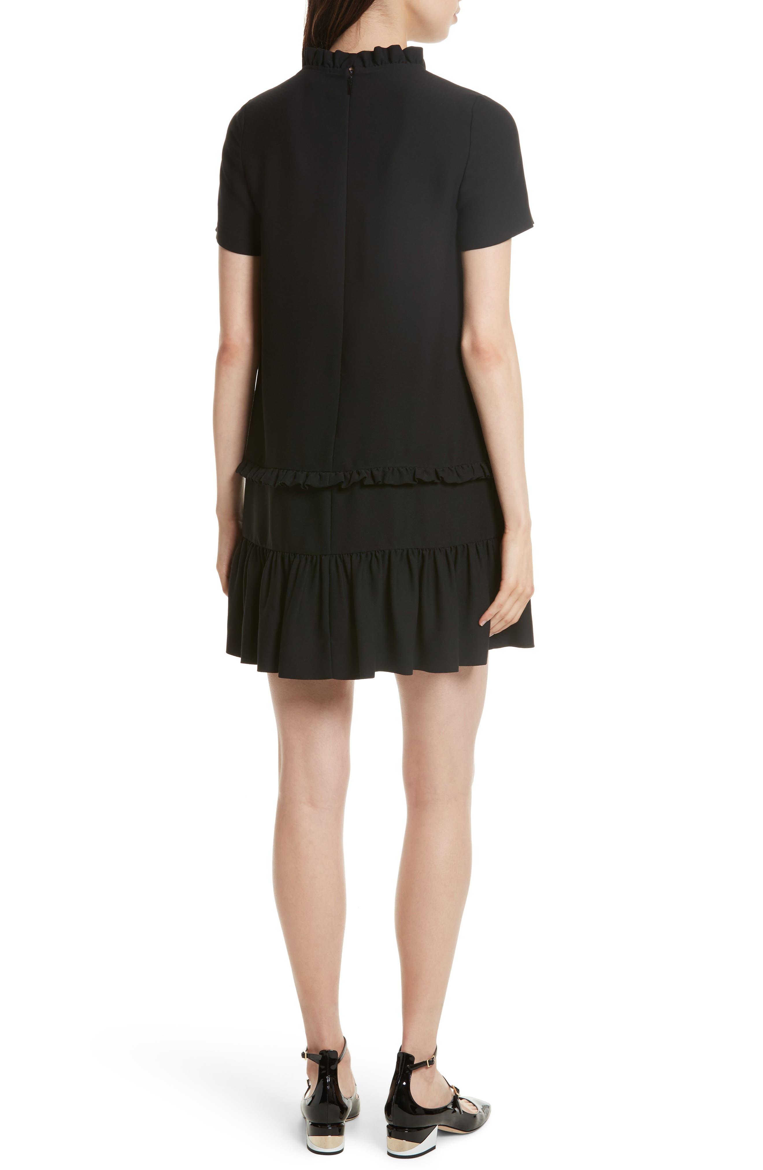 ruffle shift dress,                             Alternate thumbnail 2, color,                             001