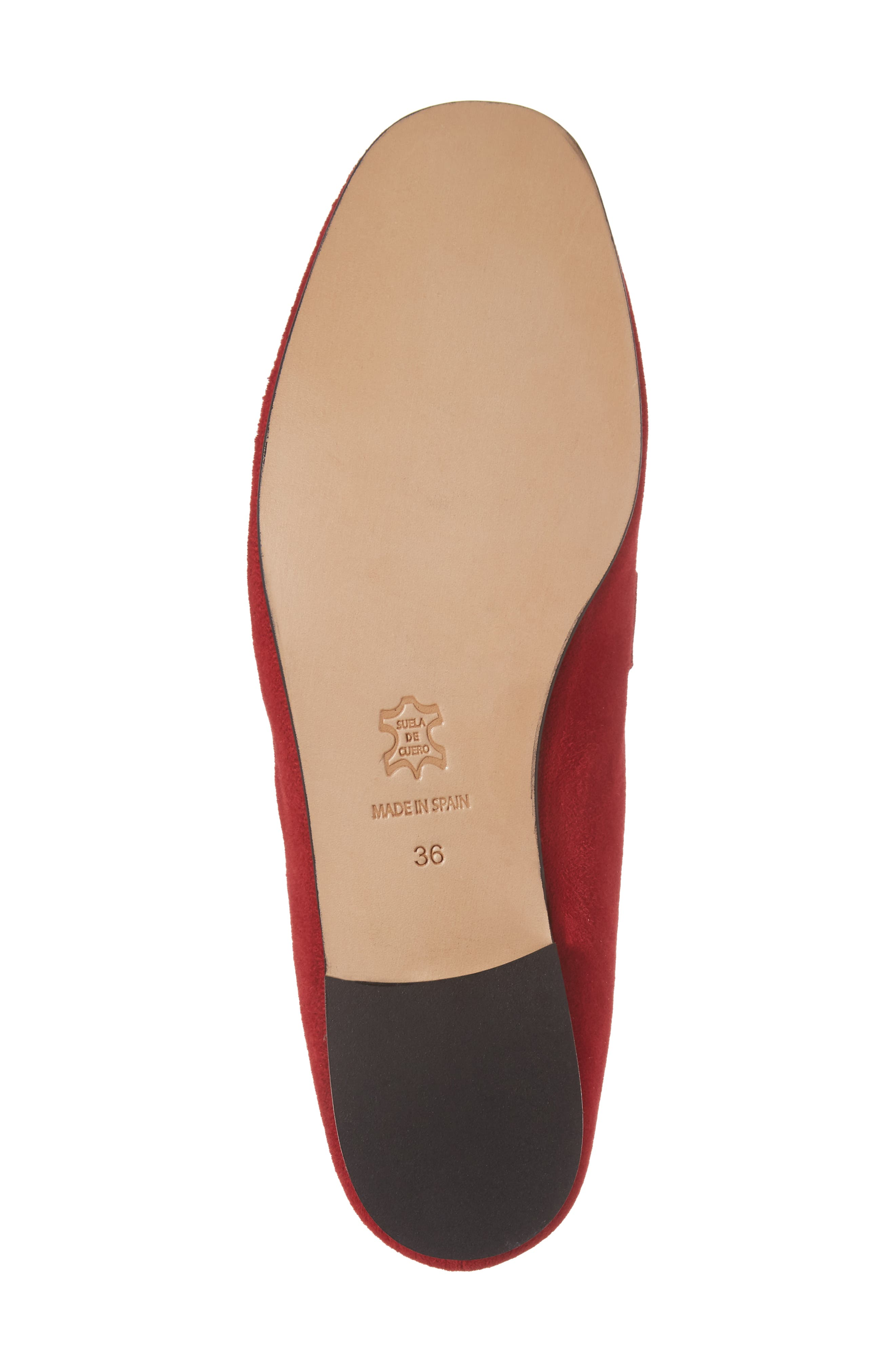 Sorrento Loafer Mule,                             Alternate thumbnail 6, color,                             RED SUEDE