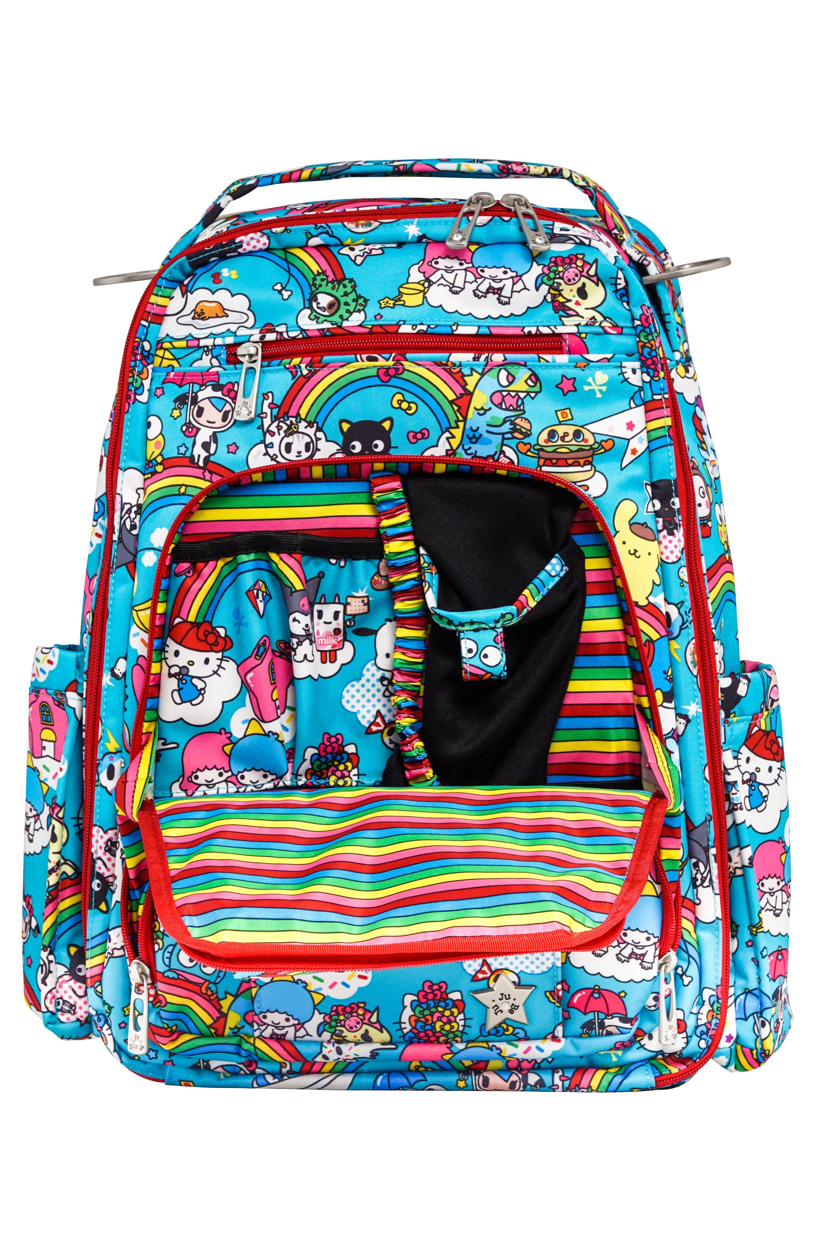 x tokidoki for Hello Sanrio Rainbow Dreams Be Right Back Diaper Backpack,                             Alternate thumbnail 3, color,                             433