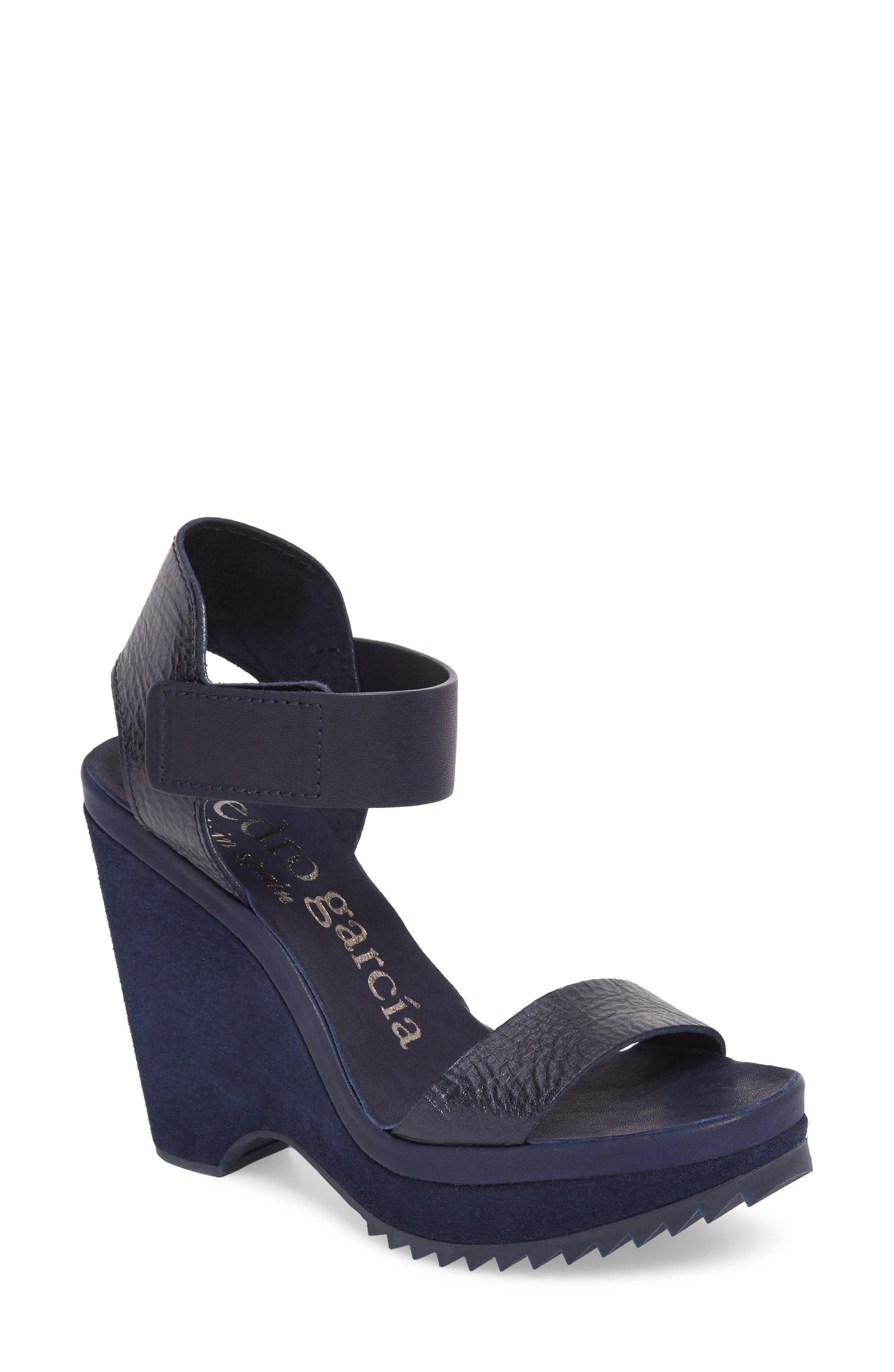 Vida Platform Wedge Sandal,                             Main thumbnail 1, color,                             MARINA