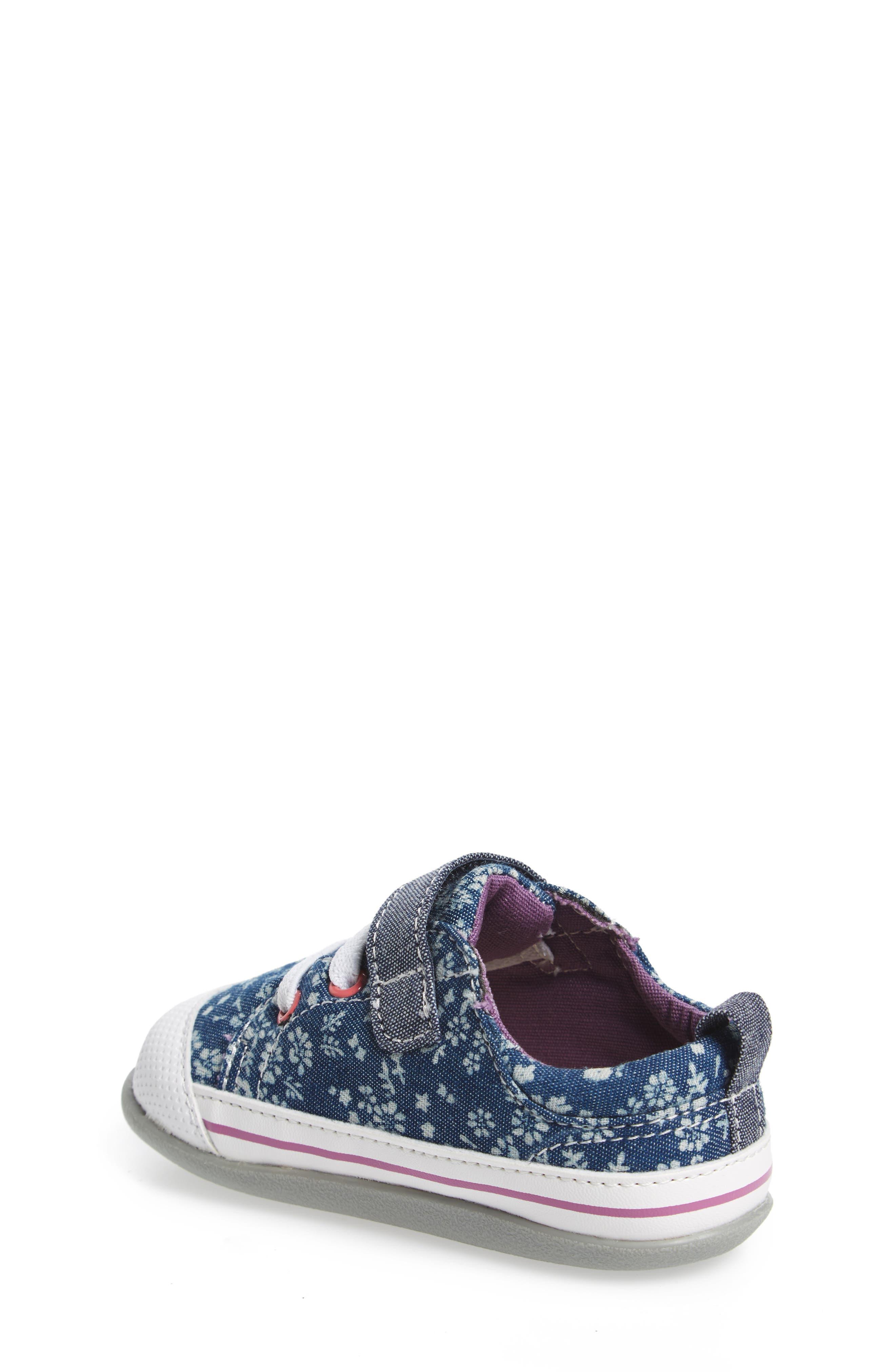 Stevie II Sneaker,                             Alternate thumbnail 2, color,                             BLUE FLOWERS