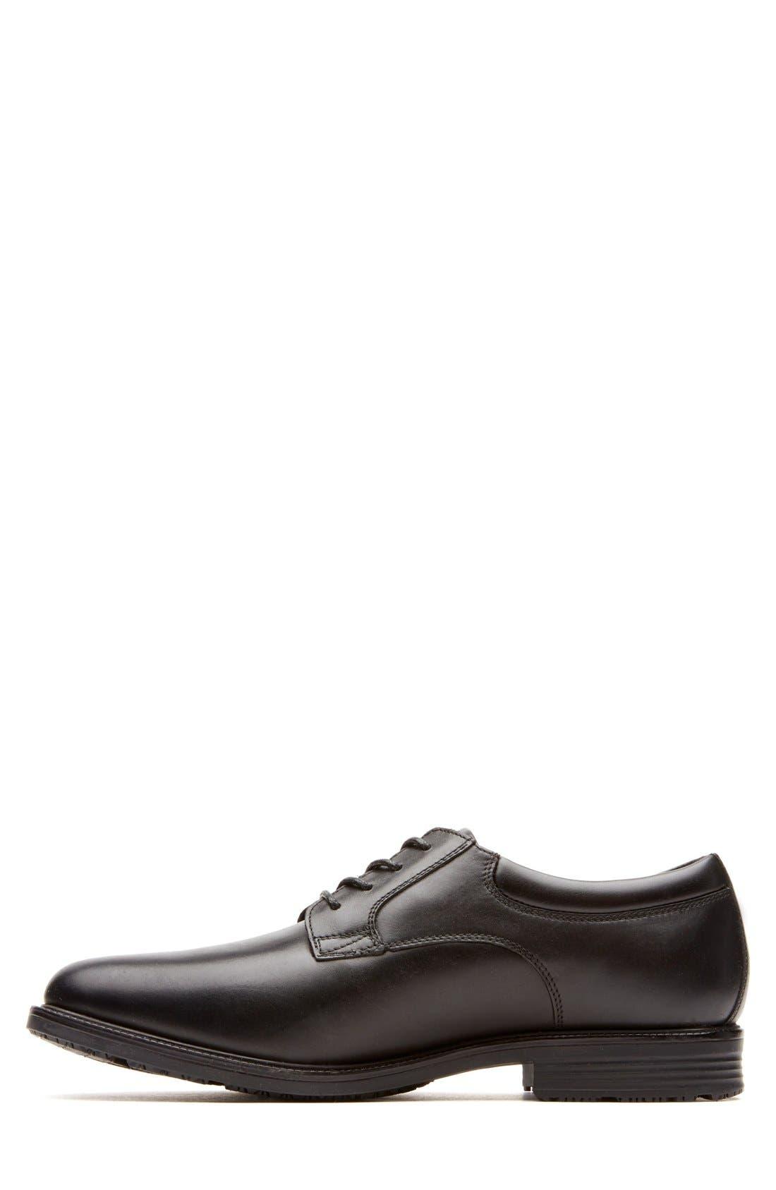 'Essential Details' Plain Toe Derby,                             Alternate thumbnail 4, color,                             BLACK