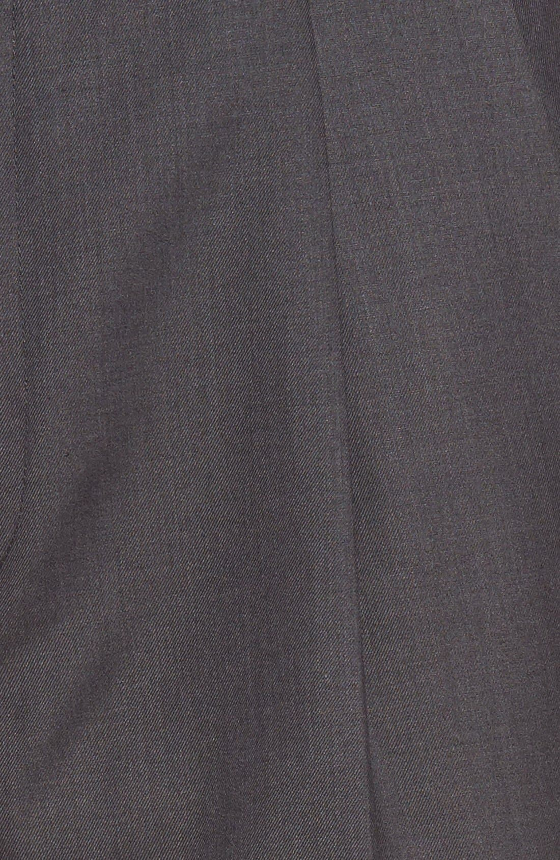 Pleated Microfiber Dress Pants,                             Alternate thumbnail 8, color,
