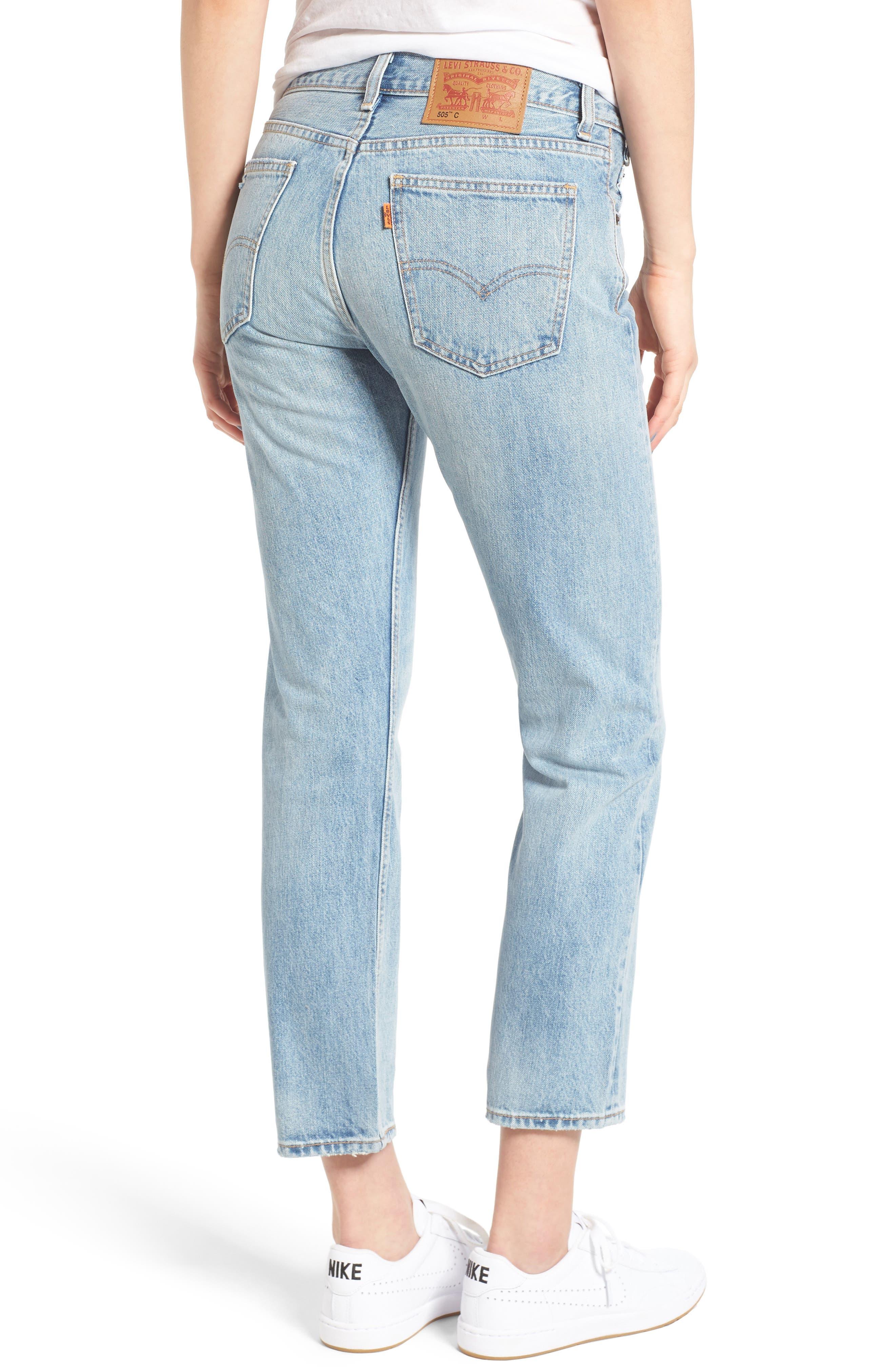 505<sup>™</sup>C Crop Straight Leg Jeans,                             Alternate thumbnail 2, color,                             450