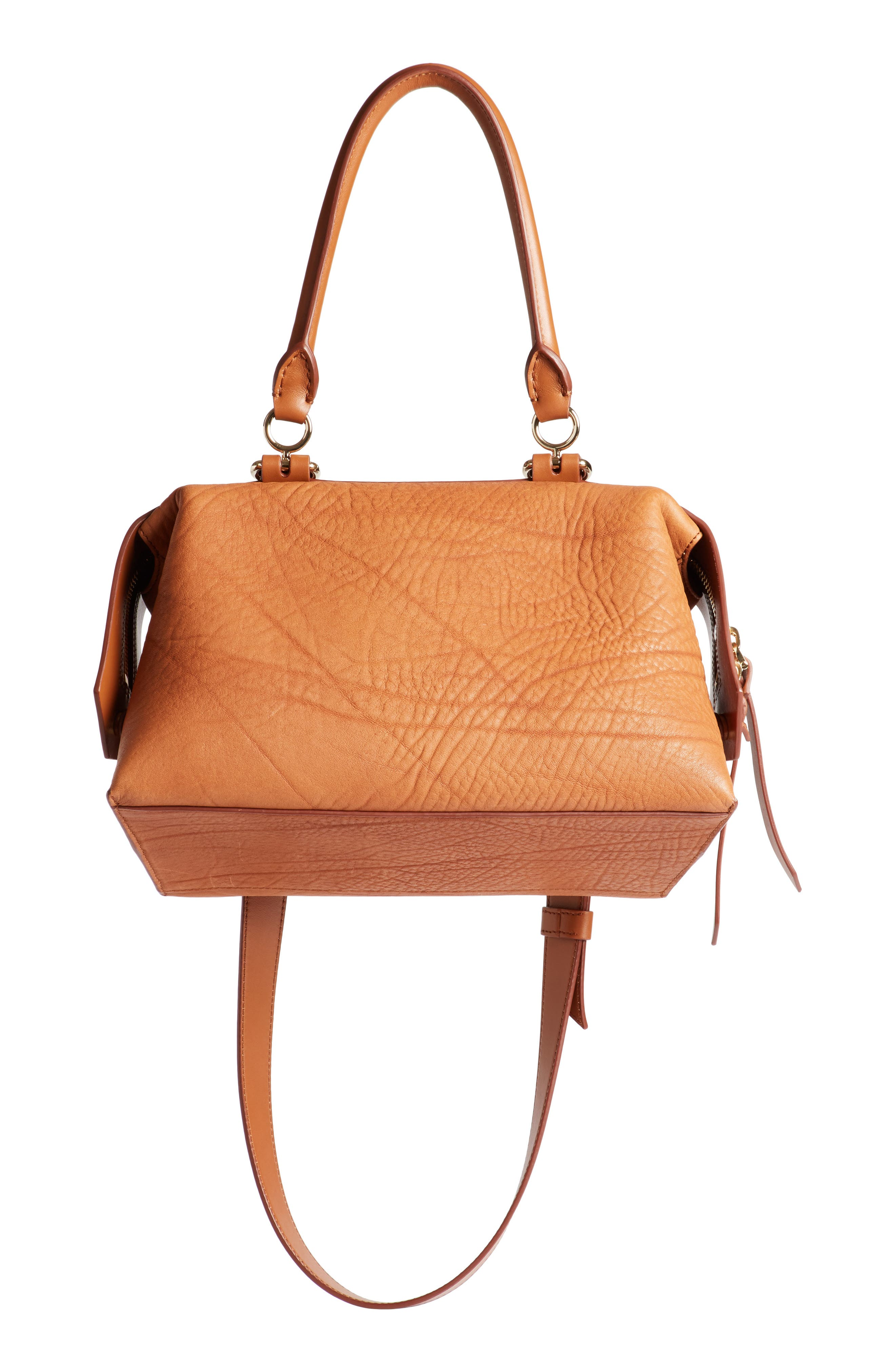 Small Sway Leather Satchel,                             Alternate thumbnail 5, color,