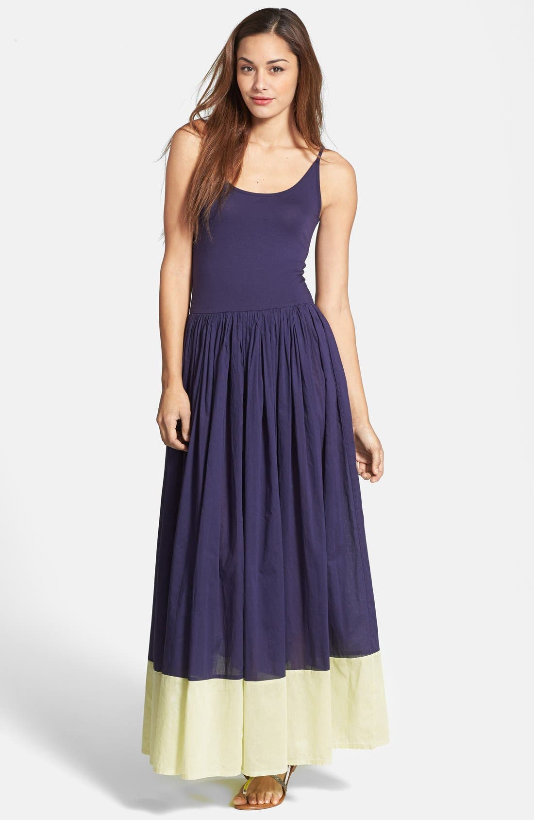 'Marionette' Cotton Maxi Dress, Main, color, 499