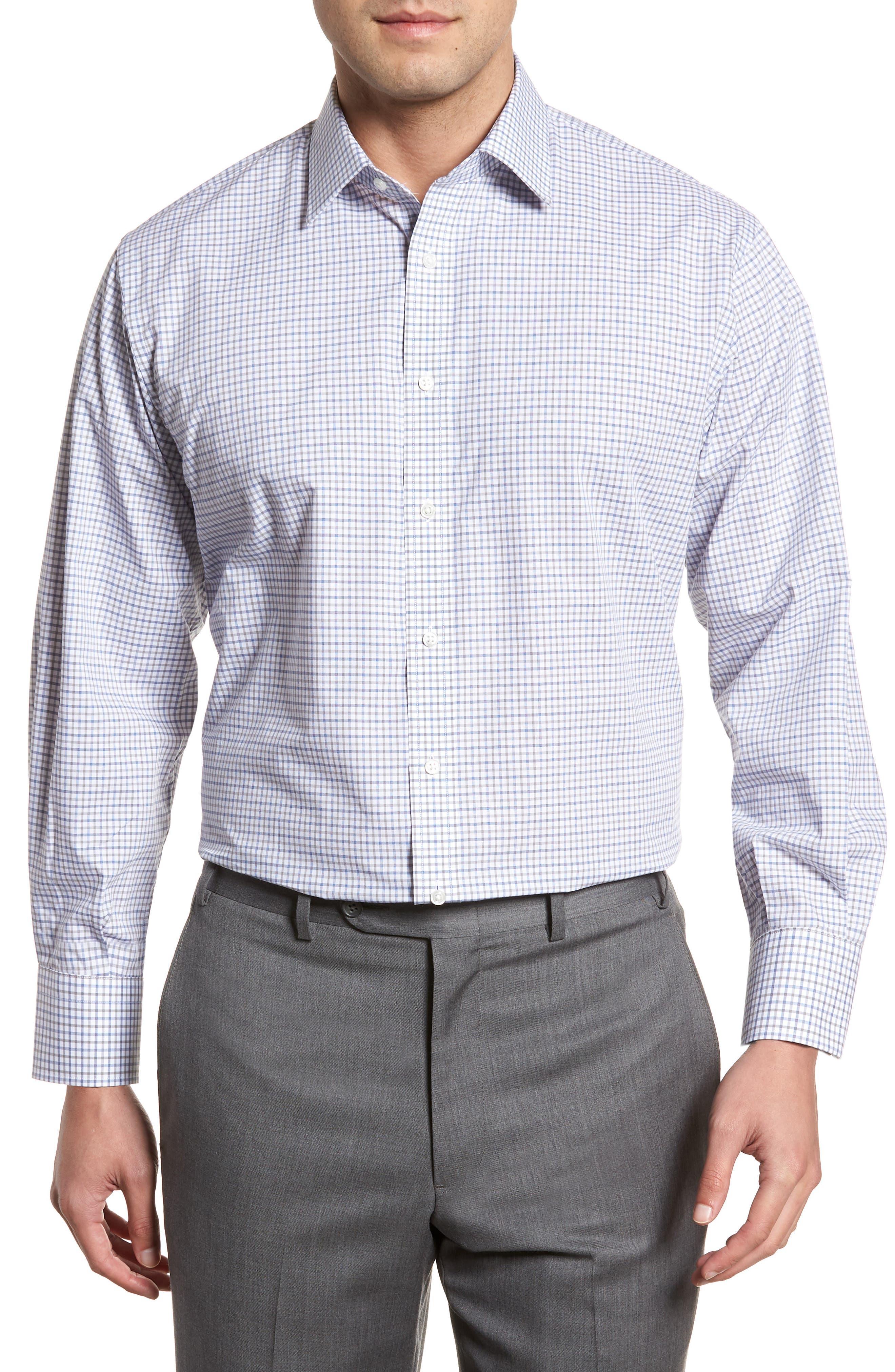 Classic Fit Check Dress Shirt,                             Main thumbnail 1, color,                             050