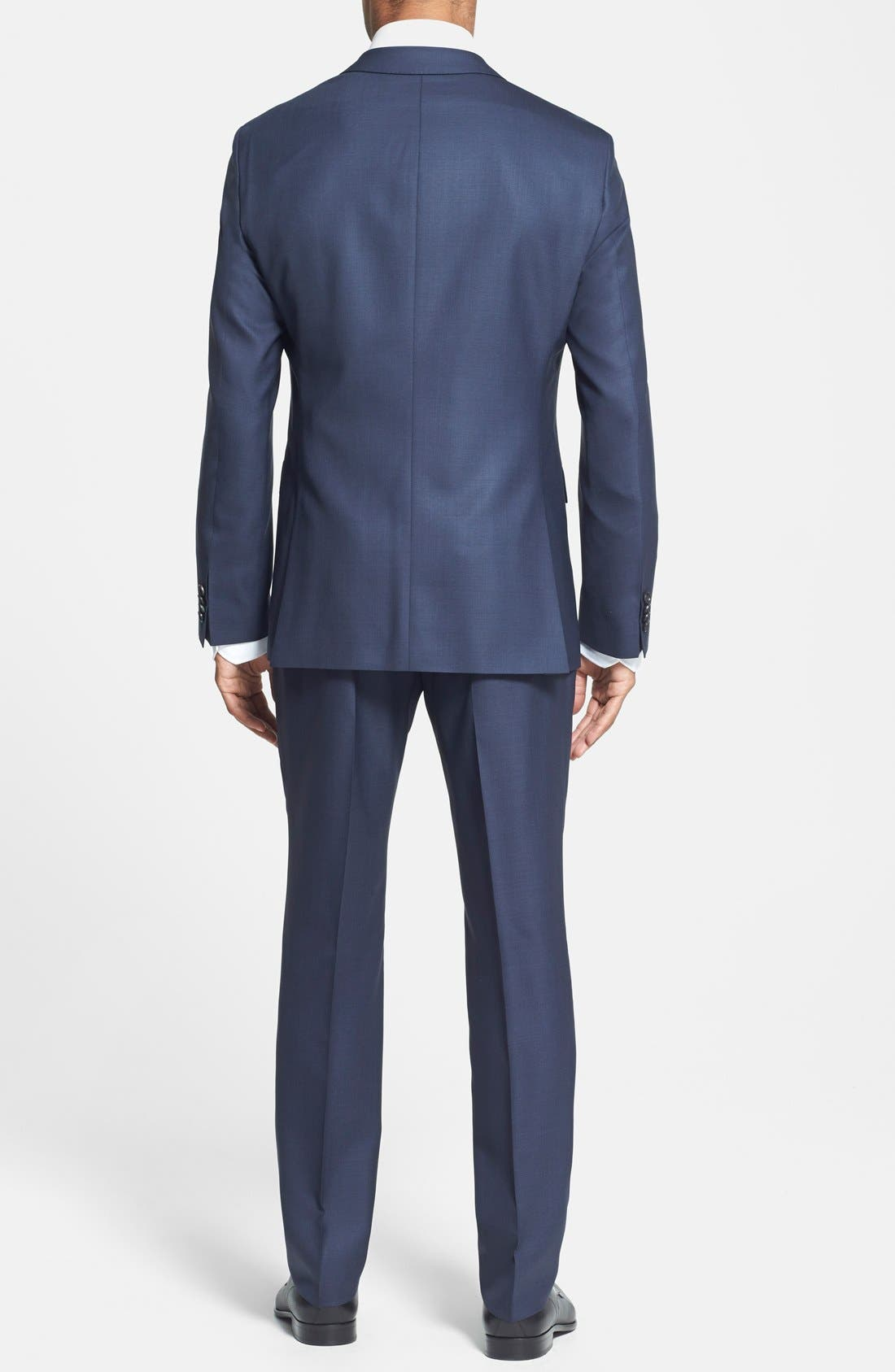 BOSS HUGO BOSS 'Johnstons/Lenon' Trim Fit Wool Suit,                             Alternate thumbnail 2, color,                             410
