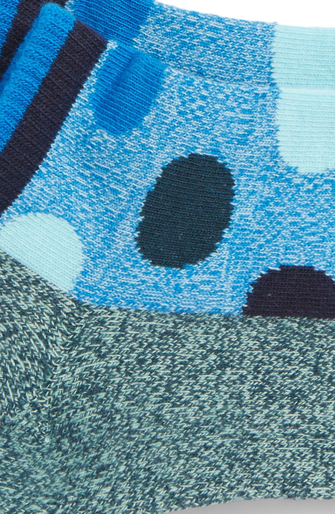 Big Dot Low Cut Socks,                             Alternate thumbnail 4, color,