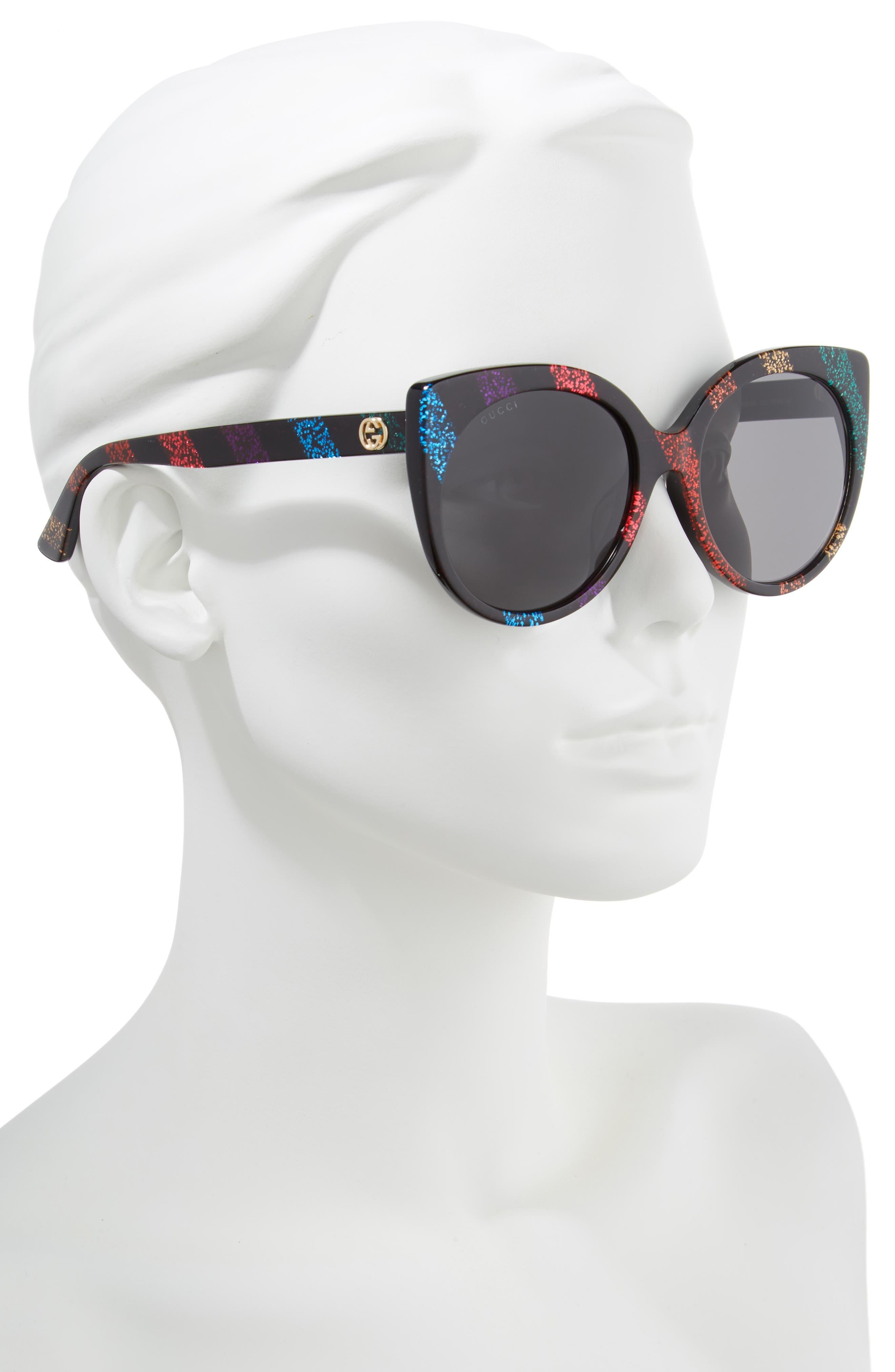 57mm Cat Eye Sunglasses,                             Alternate thumbnail 2, color,                             010