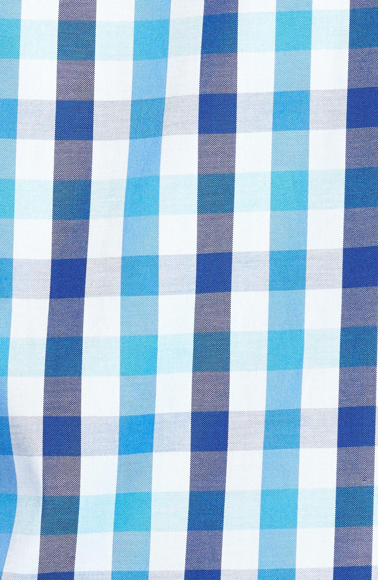 Shaped Fit Check Sport Shirt,                             Alternate thumbnail 5, color,