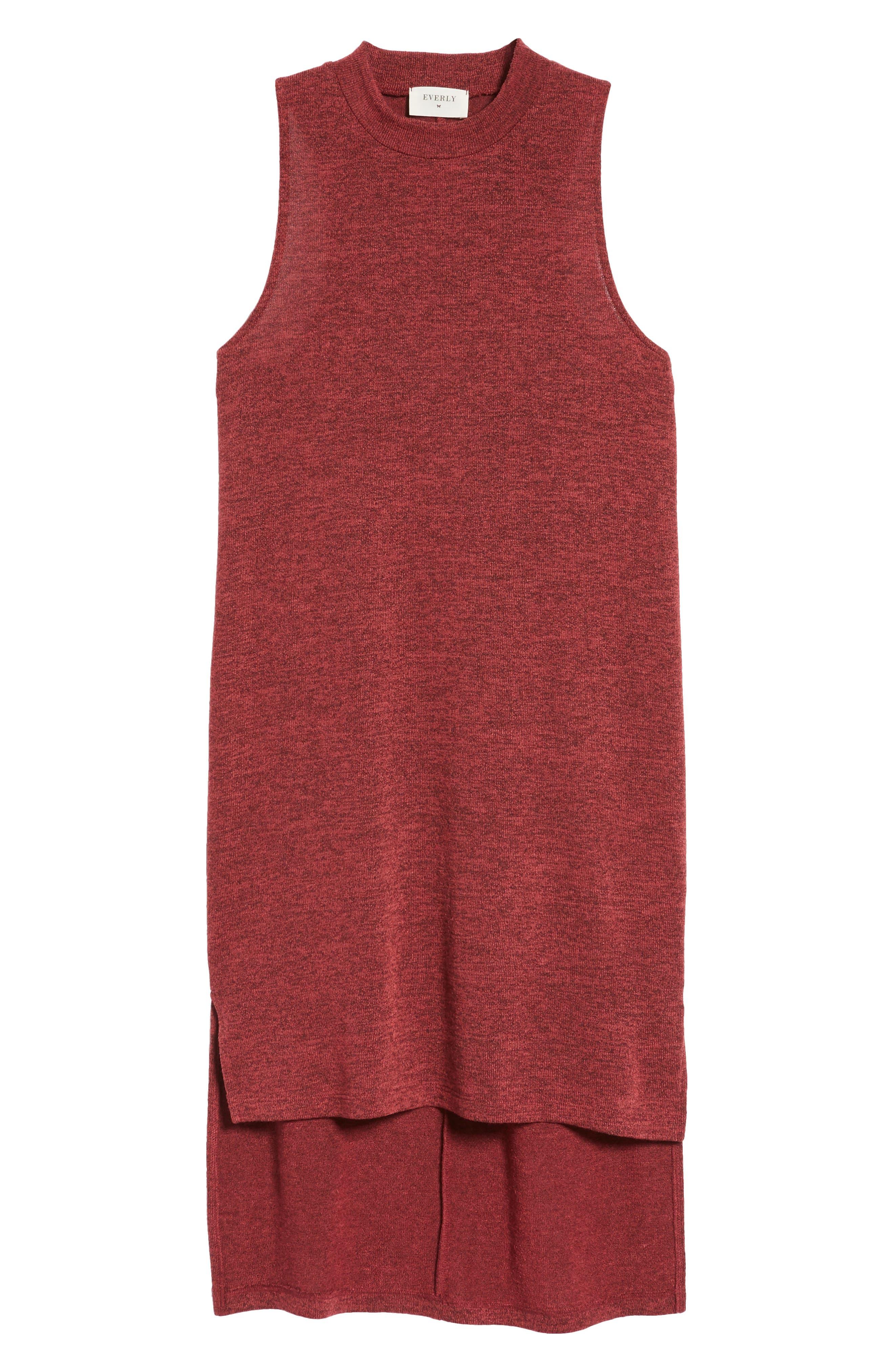Mock Neck Sleeveless Midi Dress,                             Alternate thumbnail 6, color,                             930