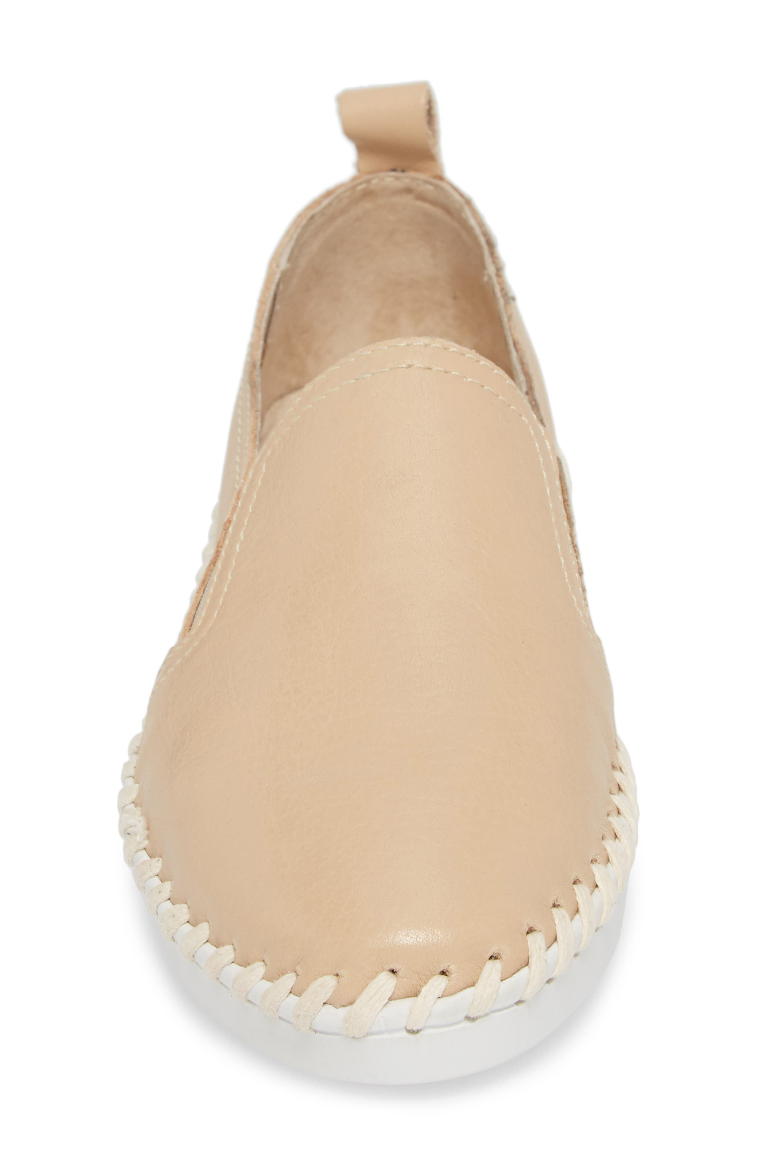 TW85 Slip-On Sneaker,                             Alternate thumbnail 4, color,                             NUDE LEATHER