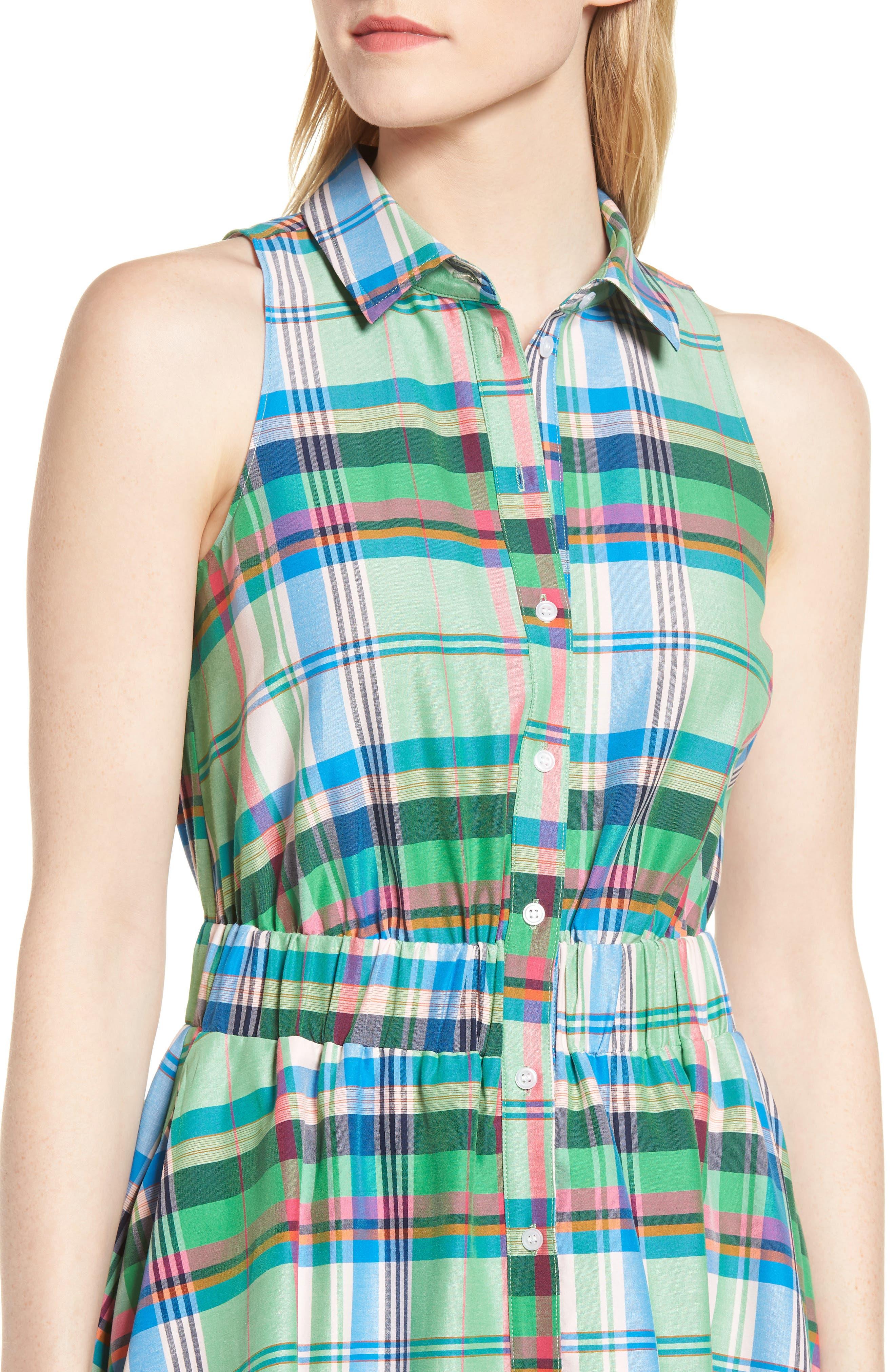 Sleeveless Shirtdress,                             Alternate thumbnail 14, color,