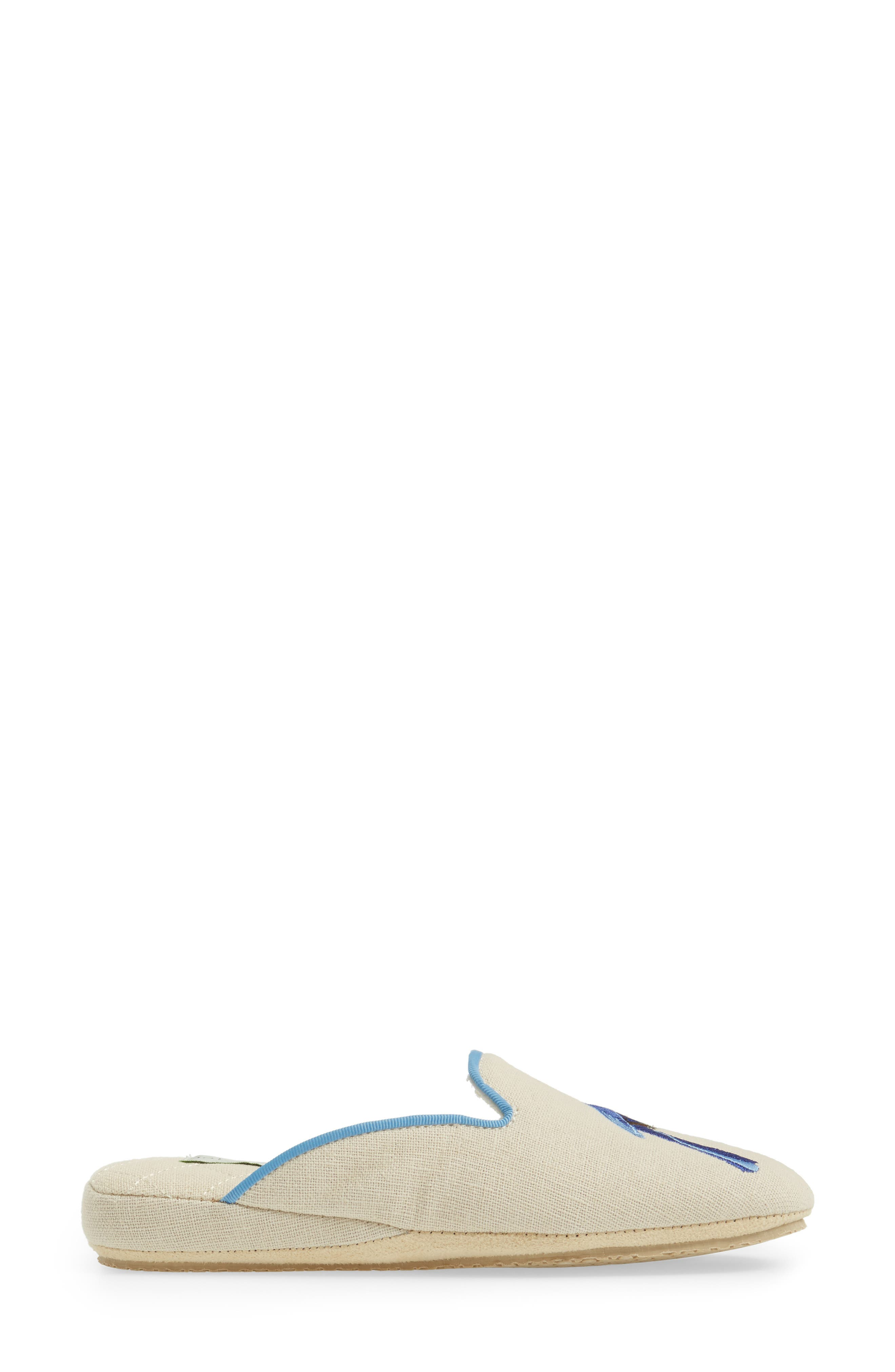 Bluebird Embroidered Slipper,                             Alternate thumbnail 3, color,                             255