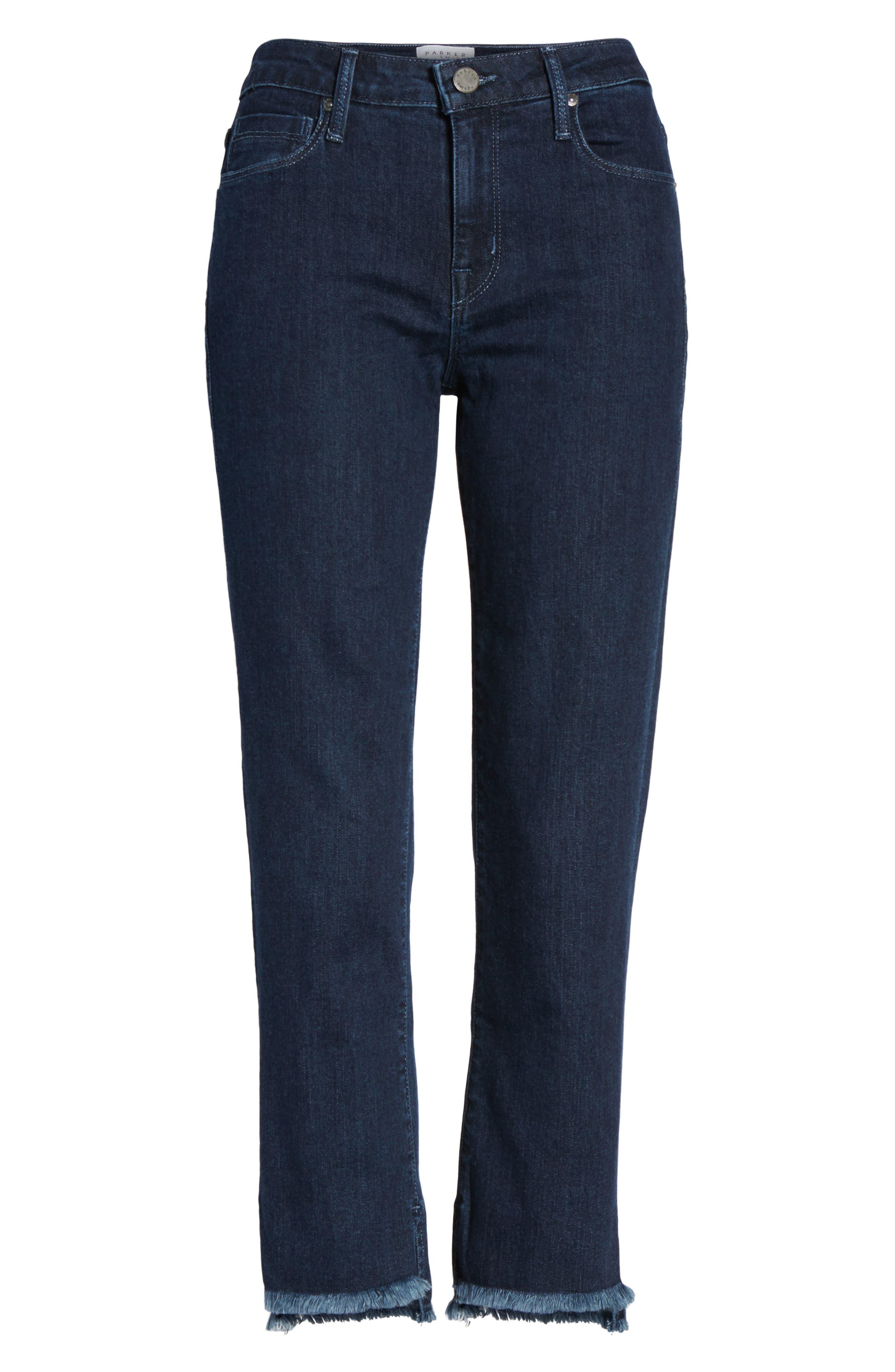 Step-Hem Straight Jeans,                             Alternate thumbnail 6, color,                             405