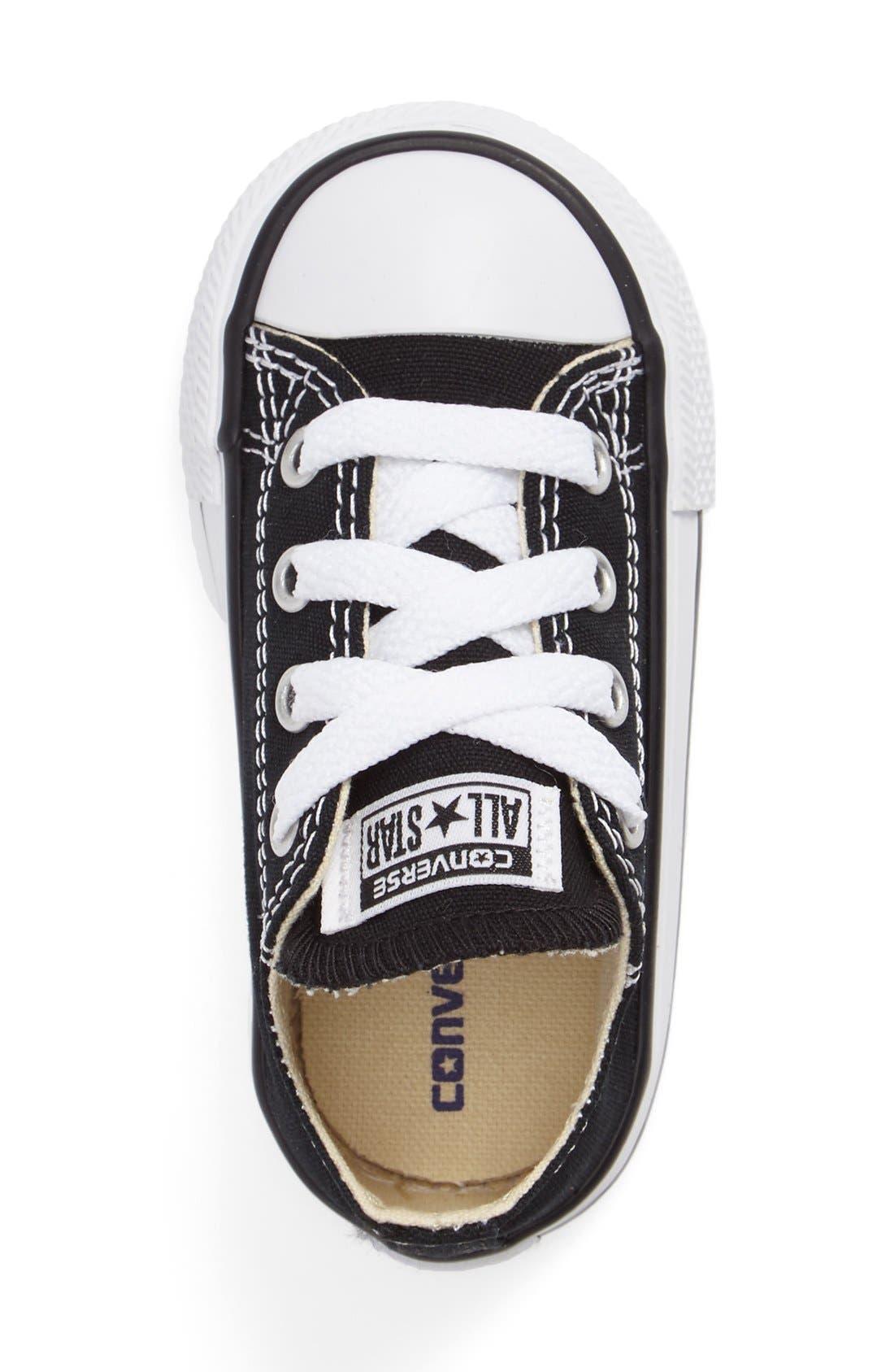 CONVERSE,                             Chuck Taylor<sup>®</sup> Low Top Sneaker,                             Alternate thumbnail 3, color,                             BLACK