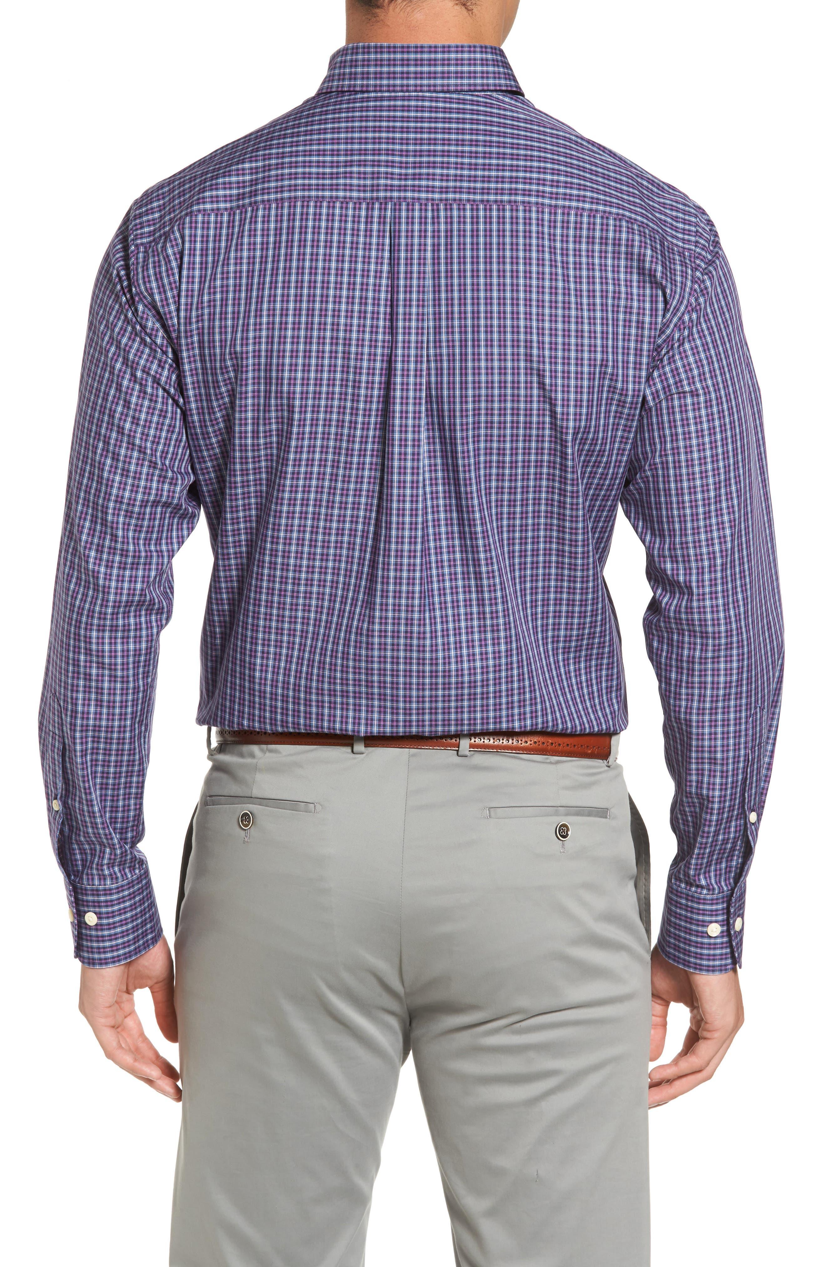 Hillock Regular Fit Plaid Sport Shirt,                             Alternate thumbnail 2, color,