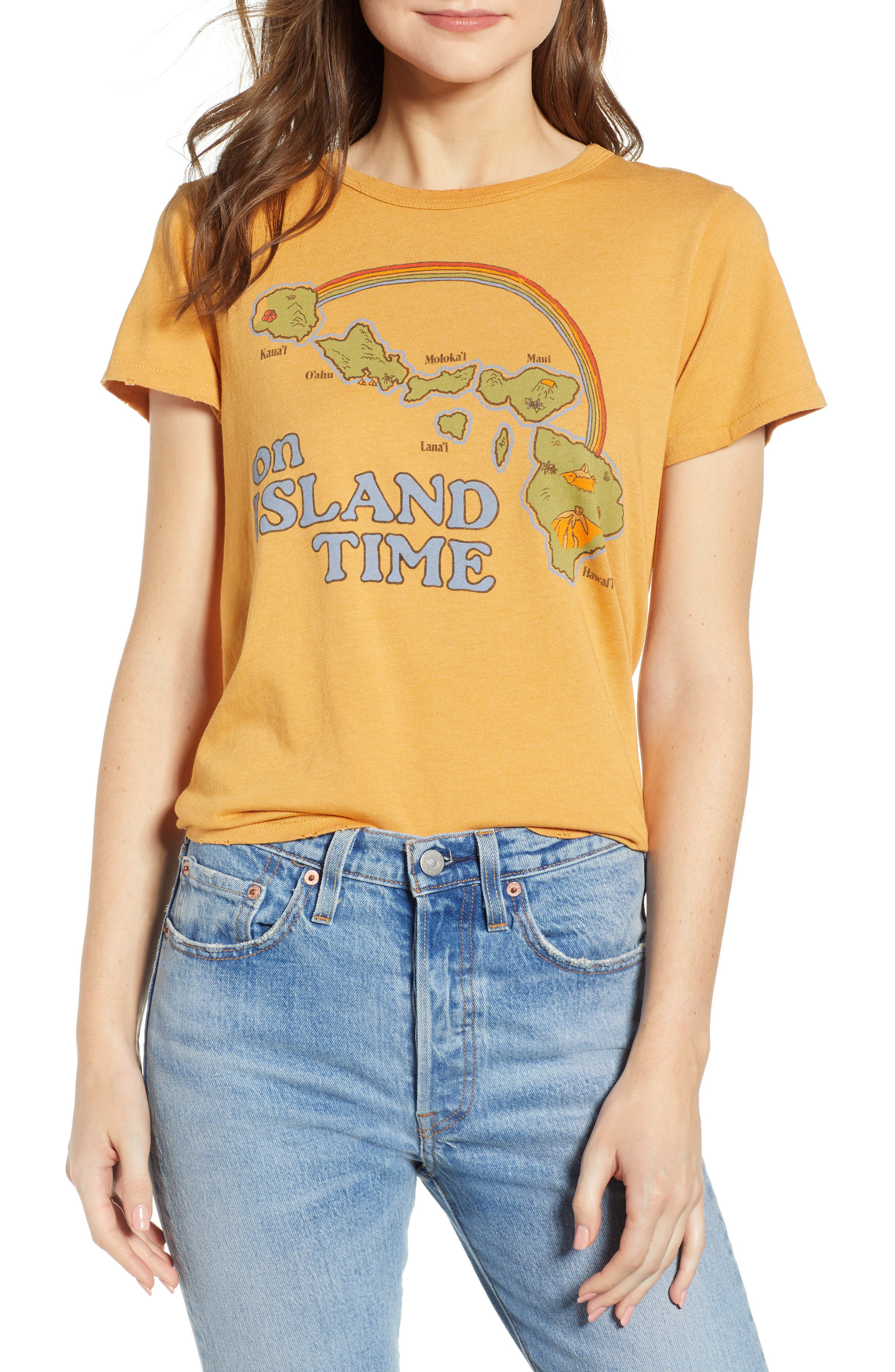 On Island Time Tee in Honey