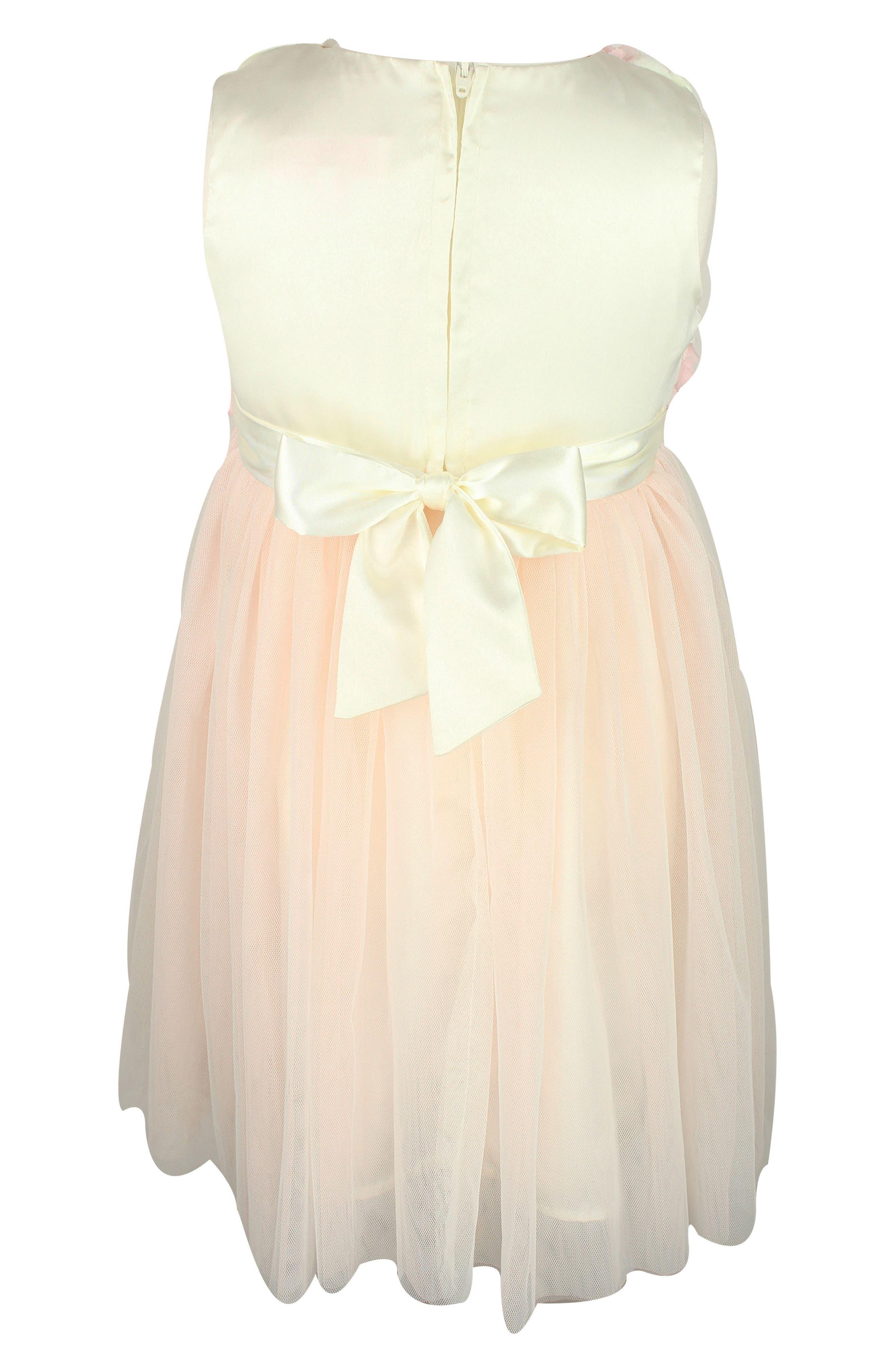 Rosette Tulle Dress,                             Alternate thumbnail 2, color,                             100
