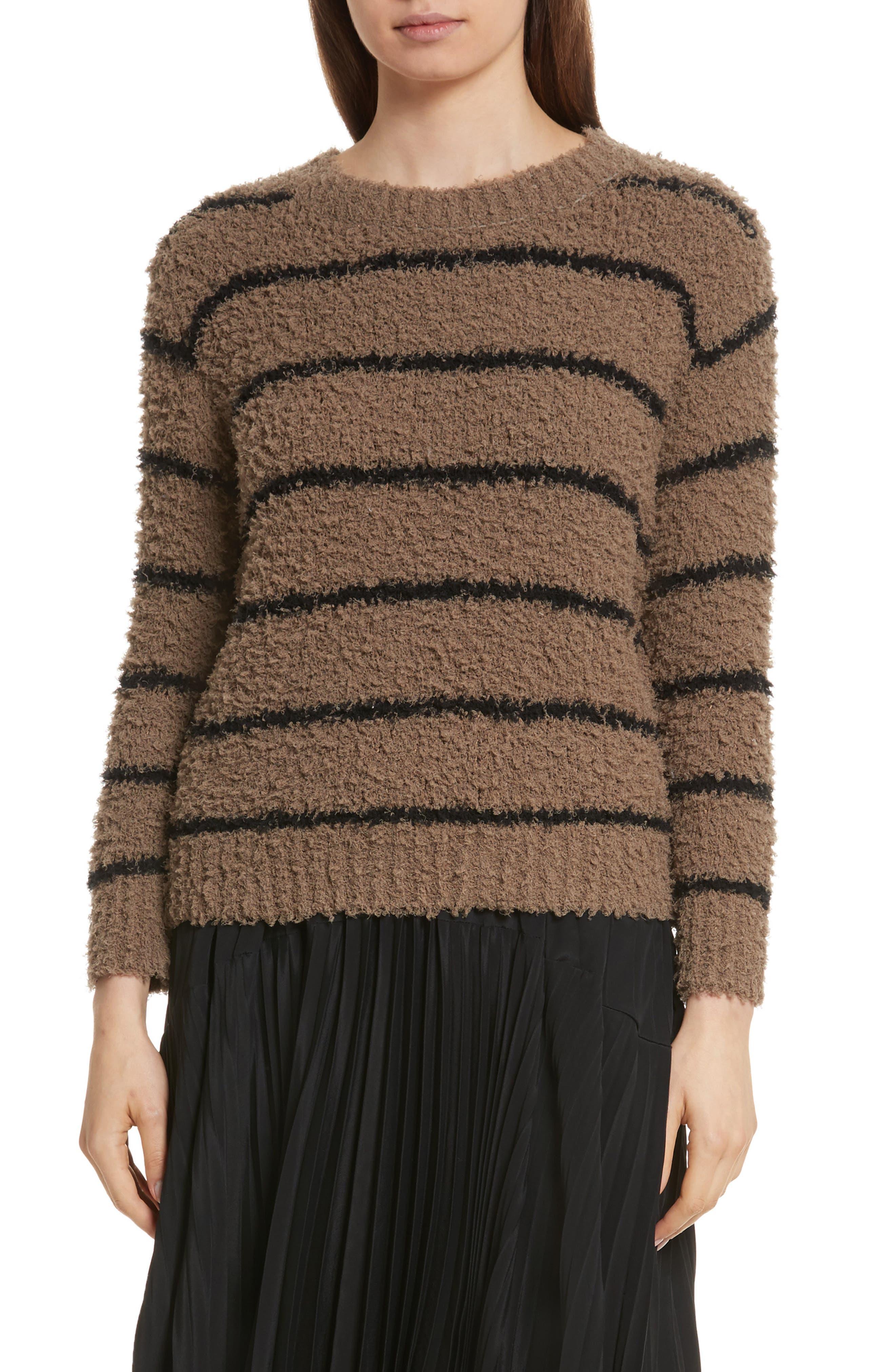 Fuzzy Stripe Sweater,                             Main thumbnail 1, color,                             313