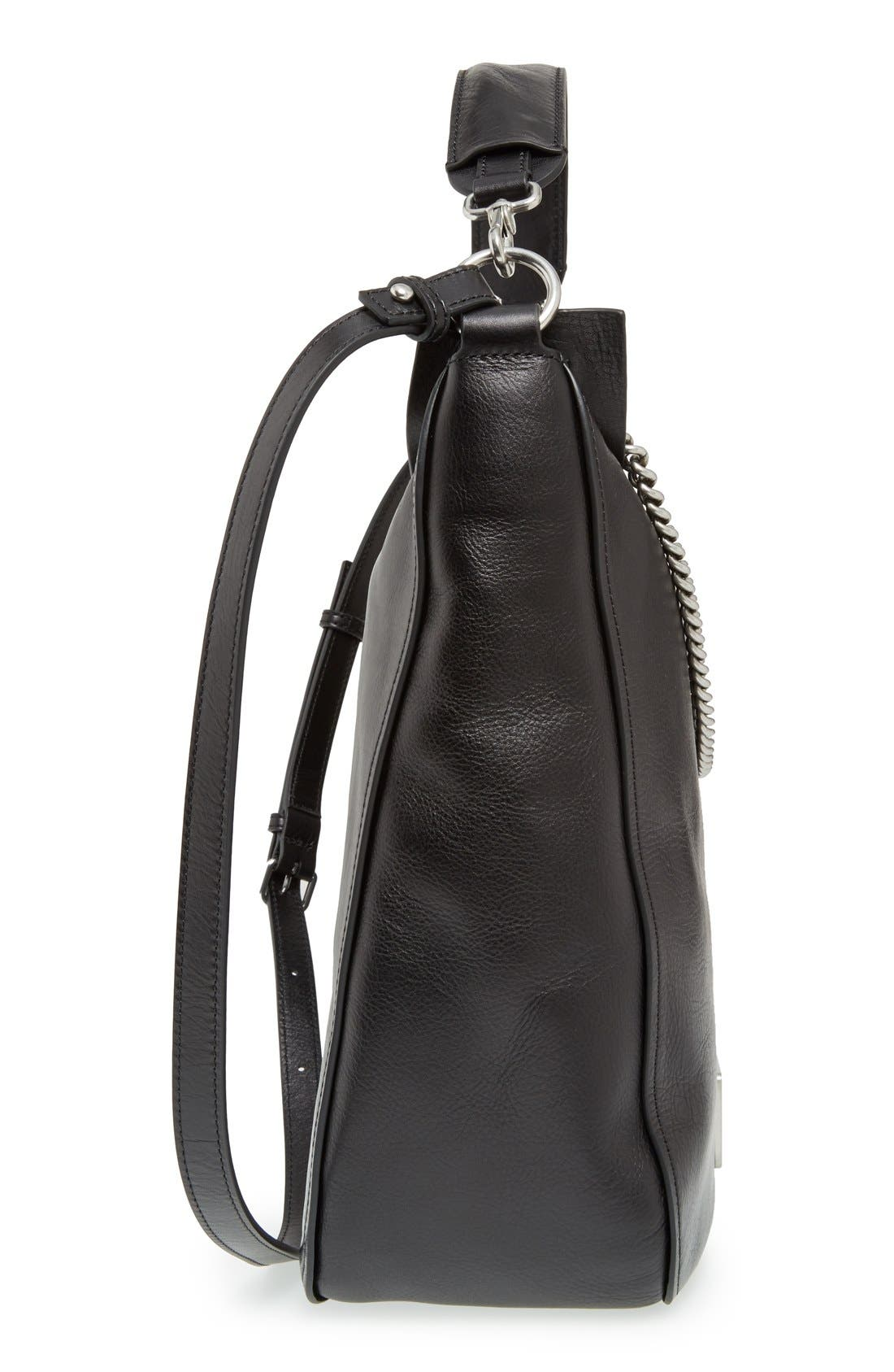 MARC BY MARC JACOBS 'Top of the Chain' Leather Hobo,                             Alternate thumbnail 4, color,                             001