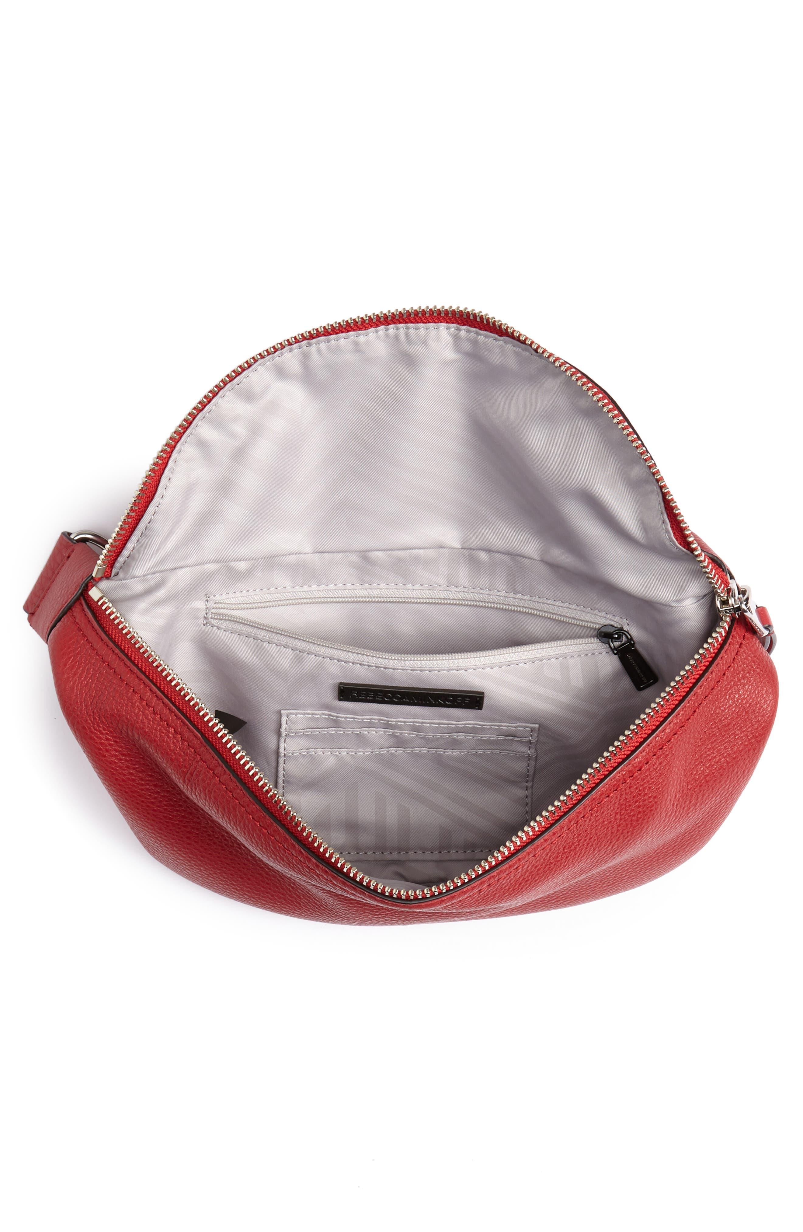 Bree Leather Belt Bag,                             Alternate thumbnail 5, color,                             SCARLET