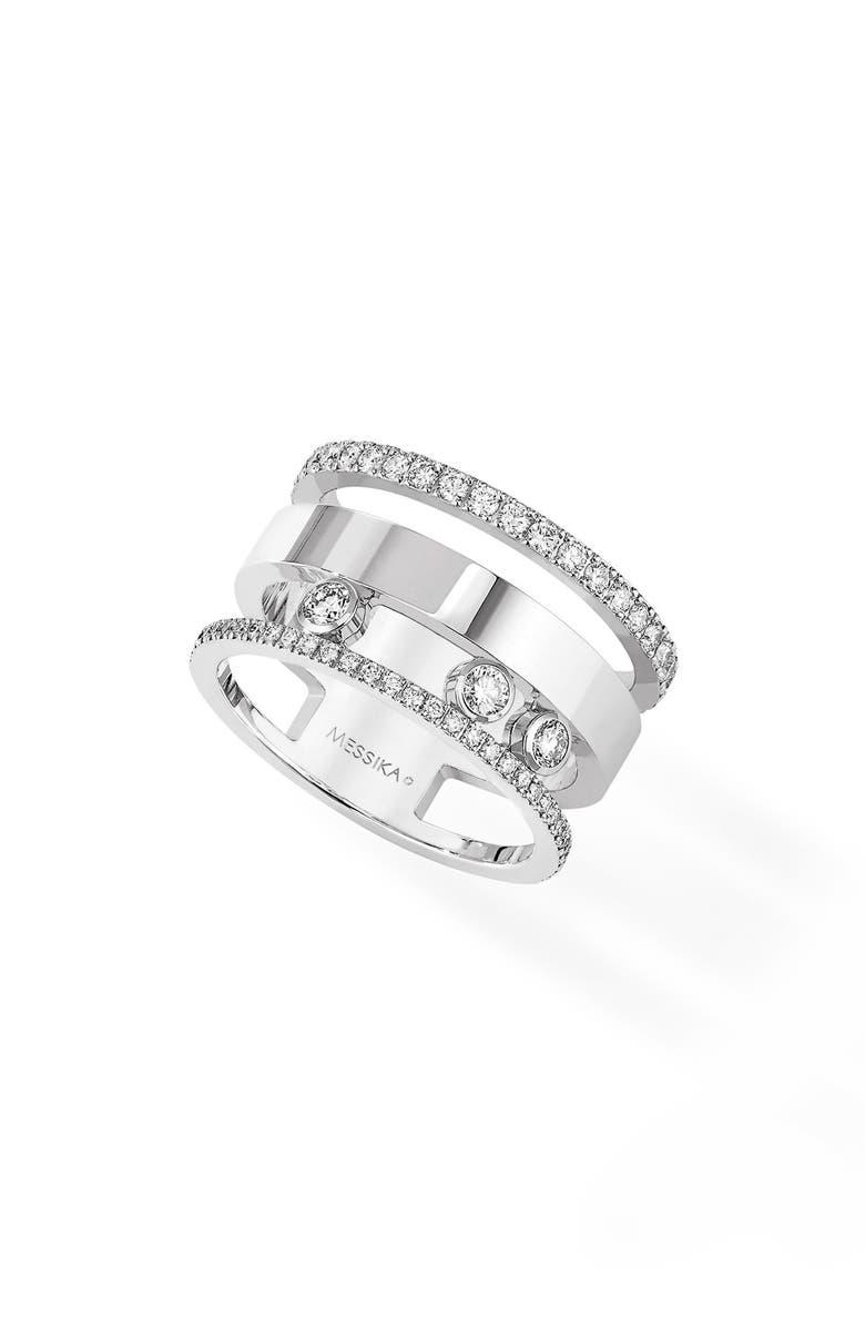 Messika THREE ROW MOVE ROMANE DIAMOND RING