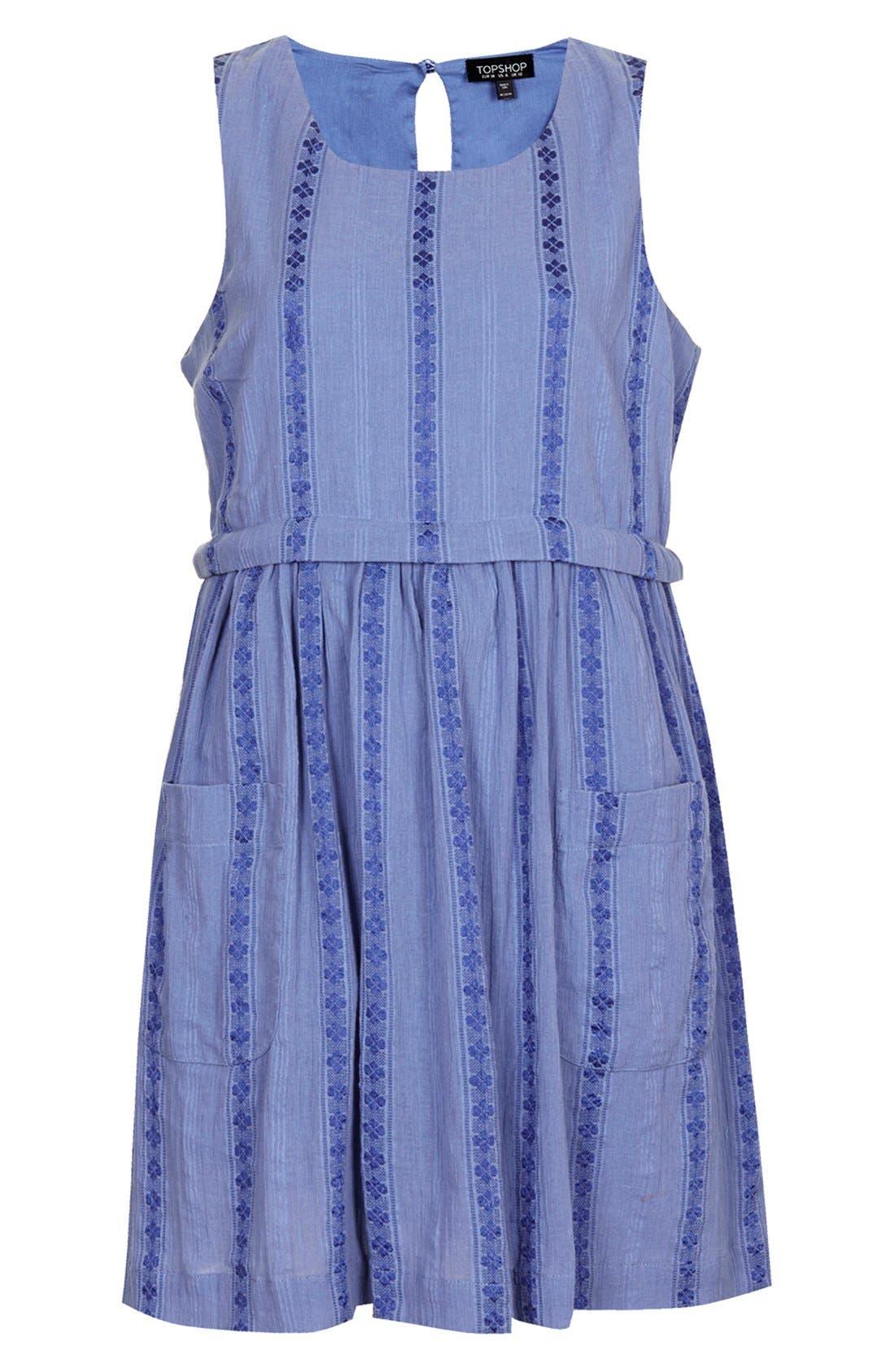 Overlay Tunic Dress,                             Alternate thumbnail 3, color,                             420