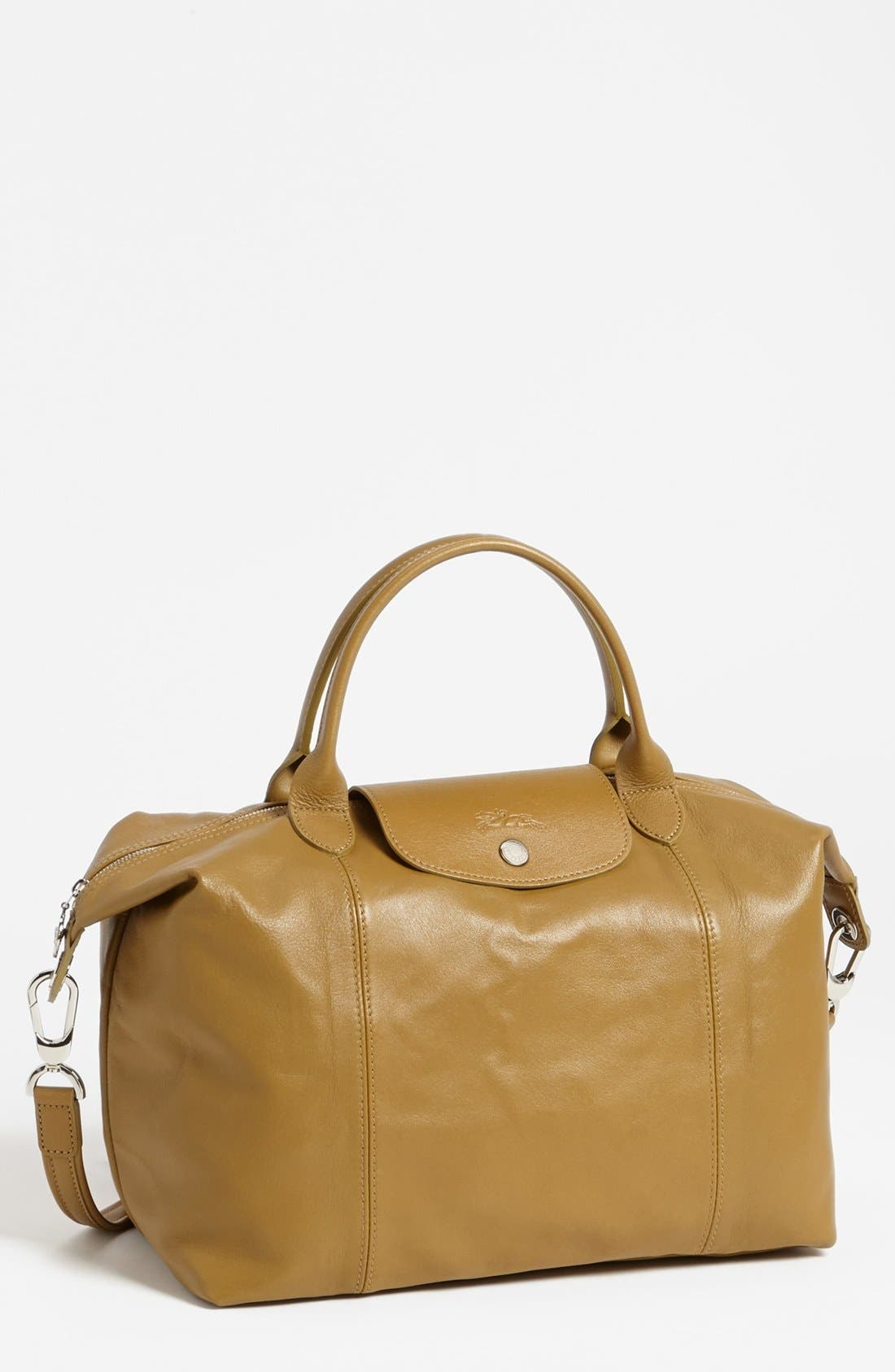 Medium 'Le Pliage Cuir' Leather Top Handle Tote,                             Main thumbnail 33, color,