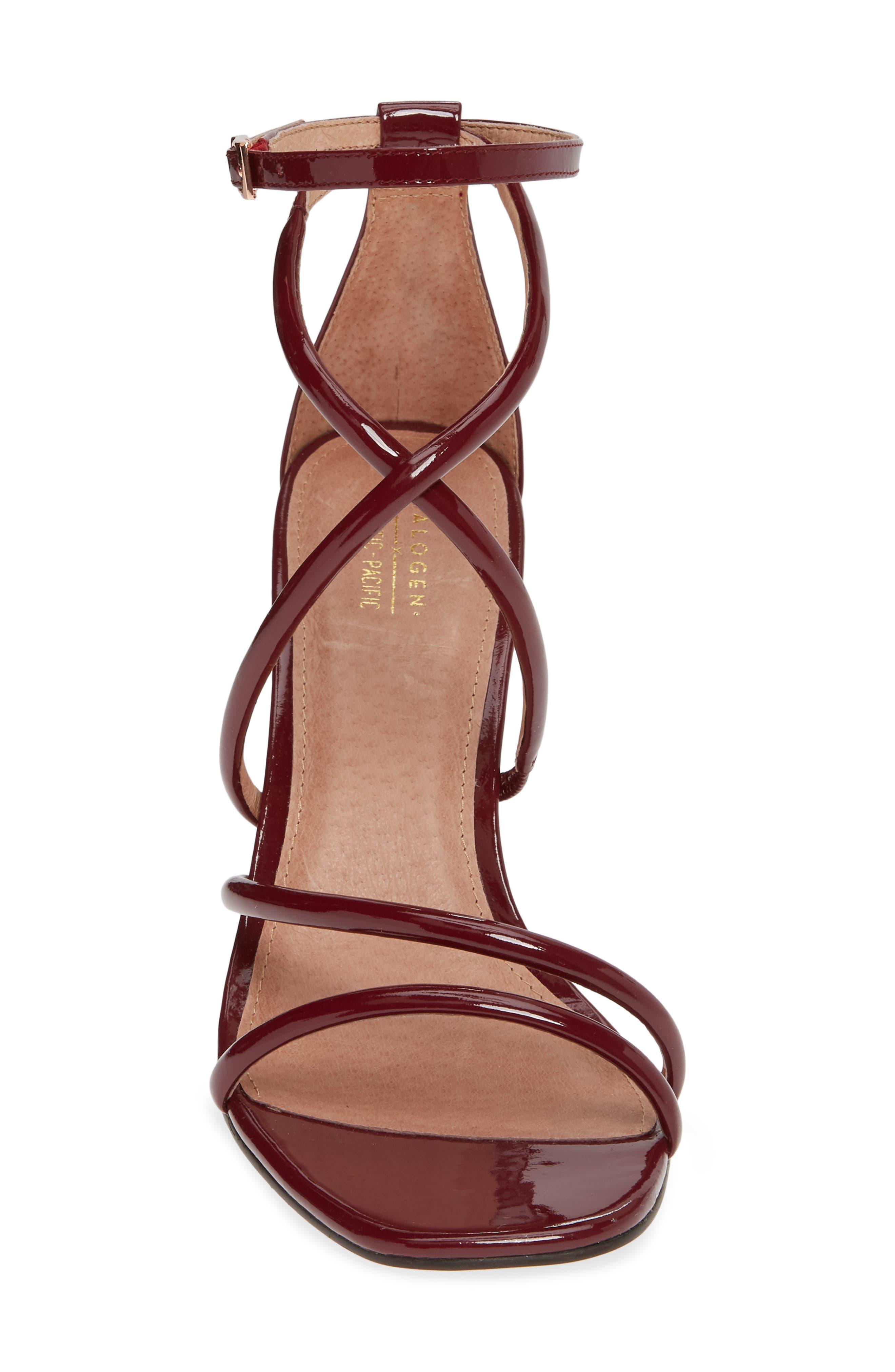 x Atlantic-Pacific Violetta Multi Strap Sandal,                             Alternate thumbnail 4, color,                             MERLOT PATENT